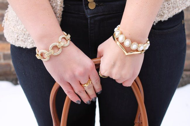 stackable gold bracelets