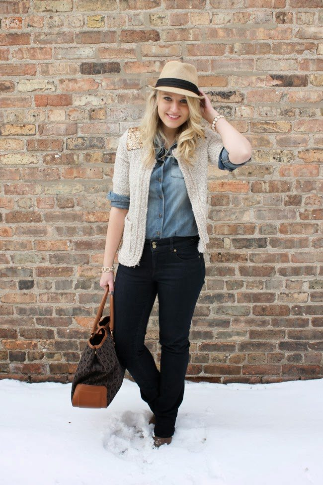 denim outfit for women
