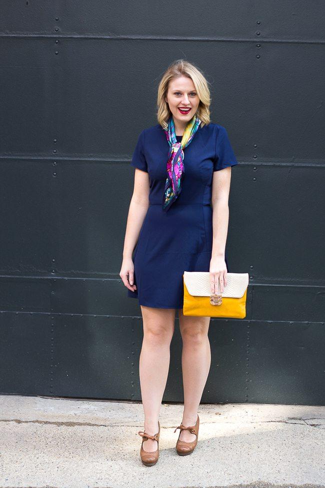 WAYF Navy Blue Dress