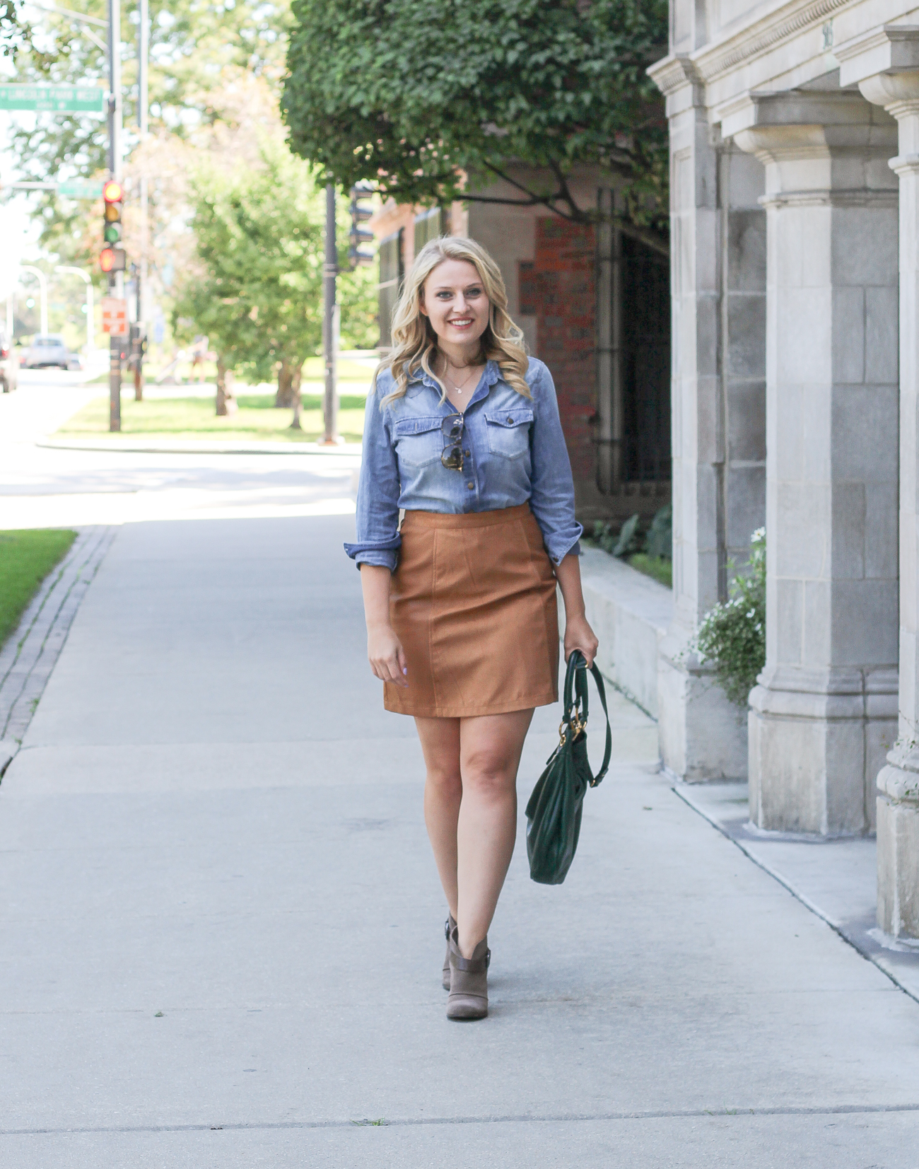 Fall Must Have Item: Brown Suede Skirt