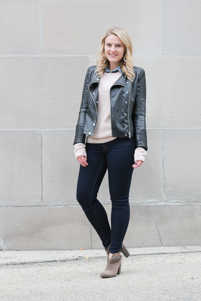 An easy way to dress for the winter with sweater layers