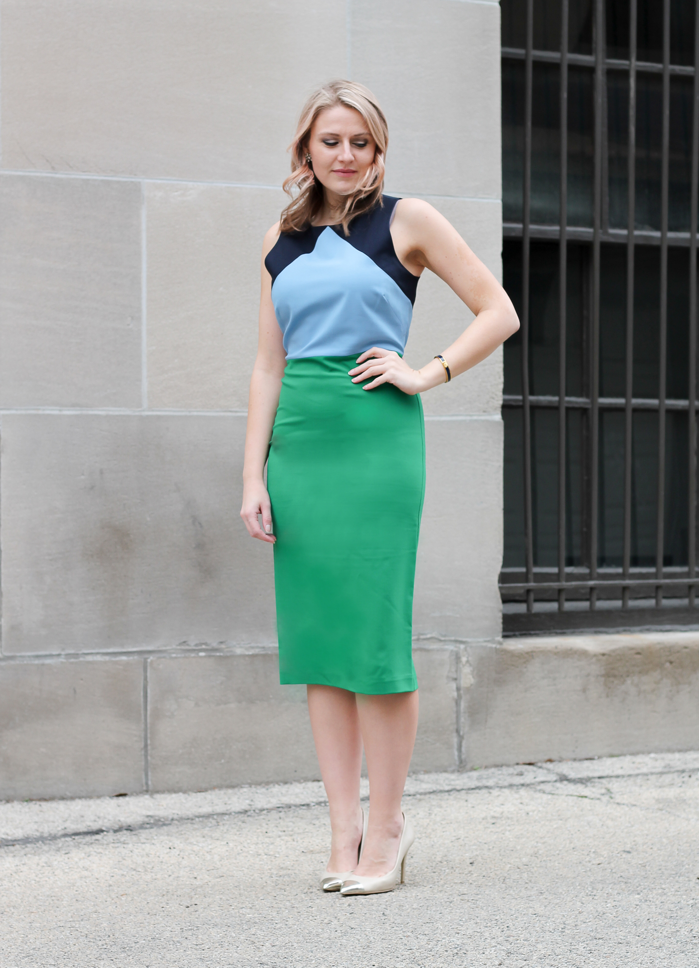 A Diane Von Furstenberg Color Block Dress