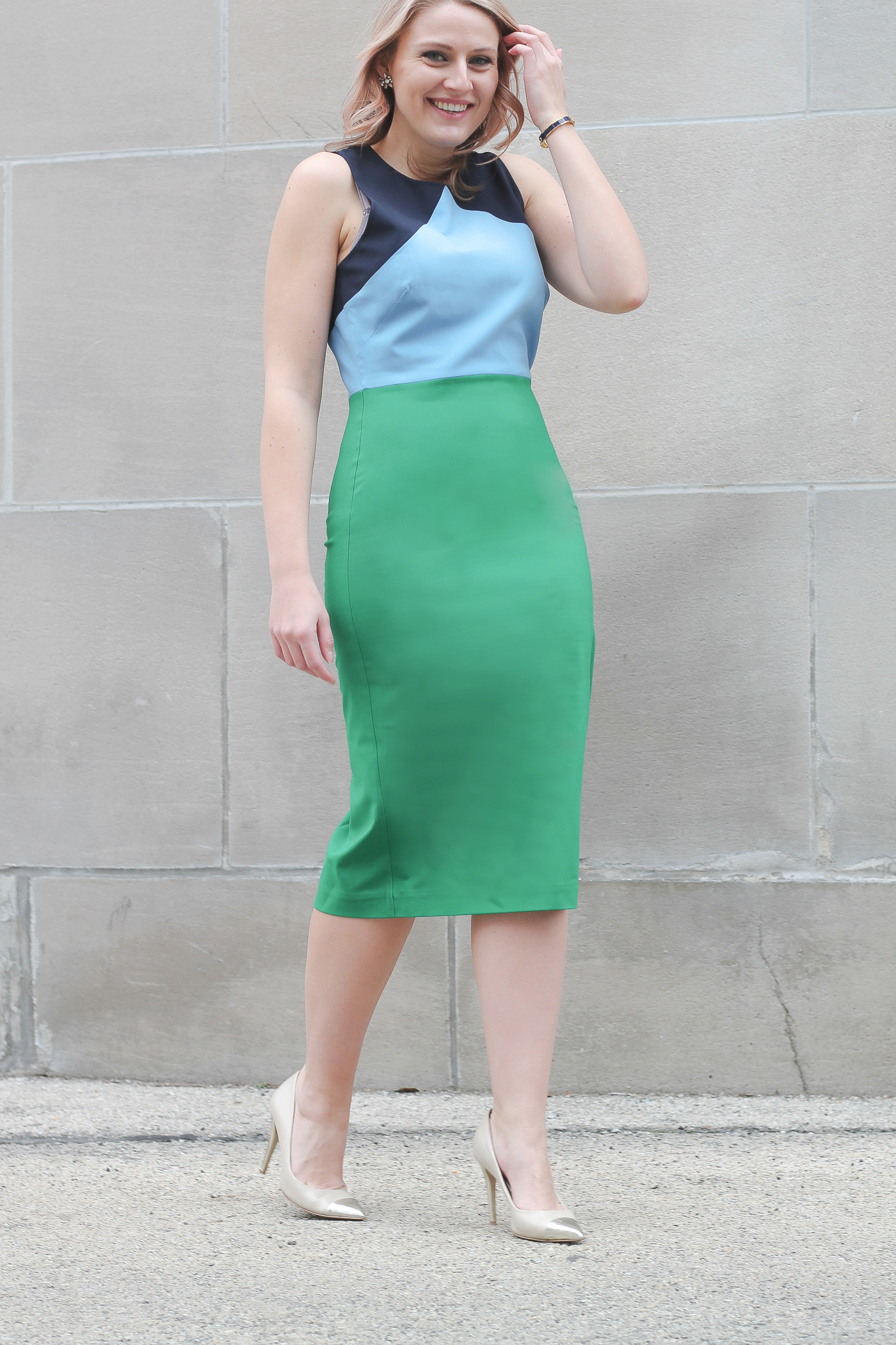 A few colorblock dress from DVF for your Spring wardrobe