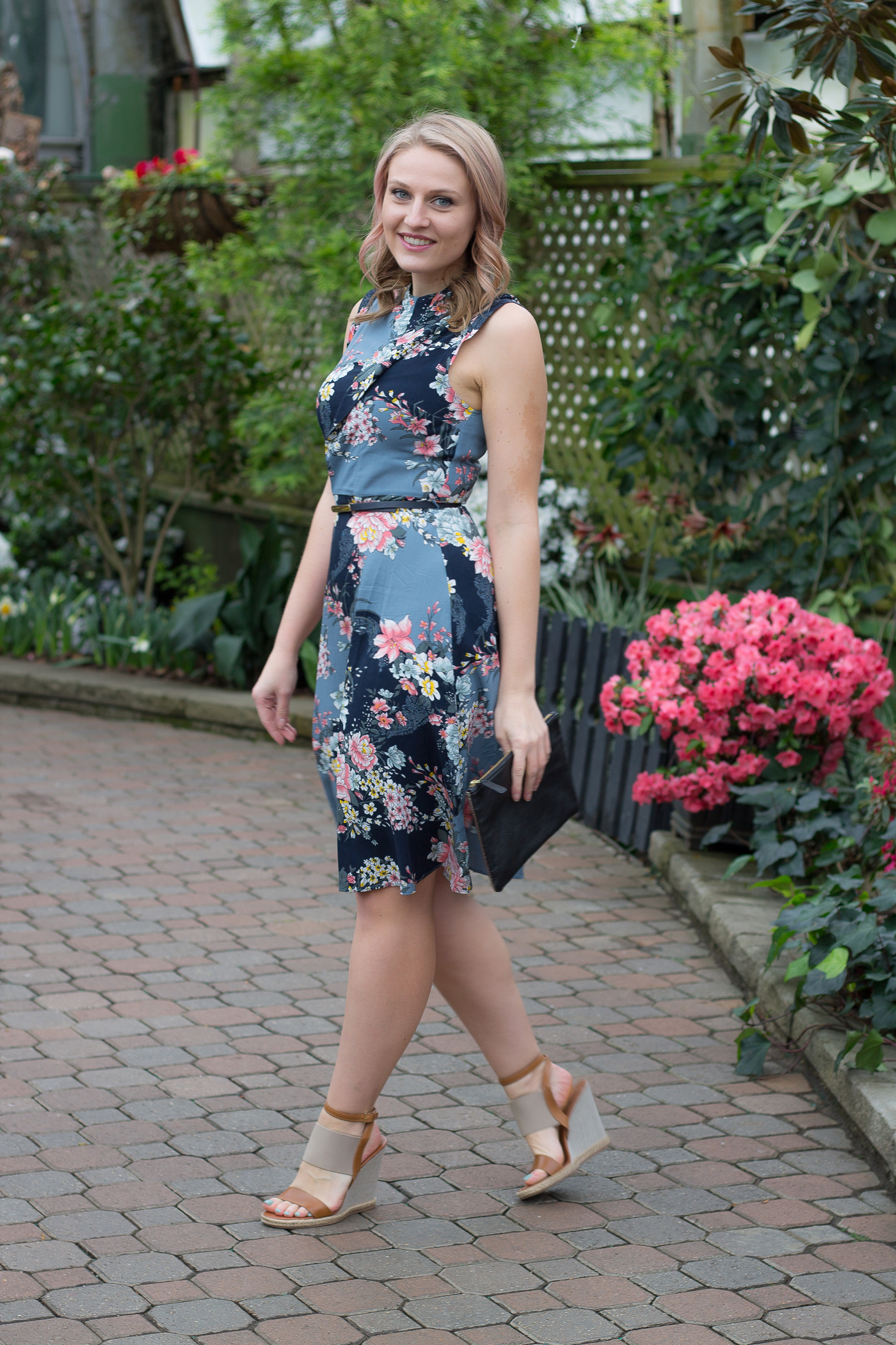 The perfect dark floral dress for spring season