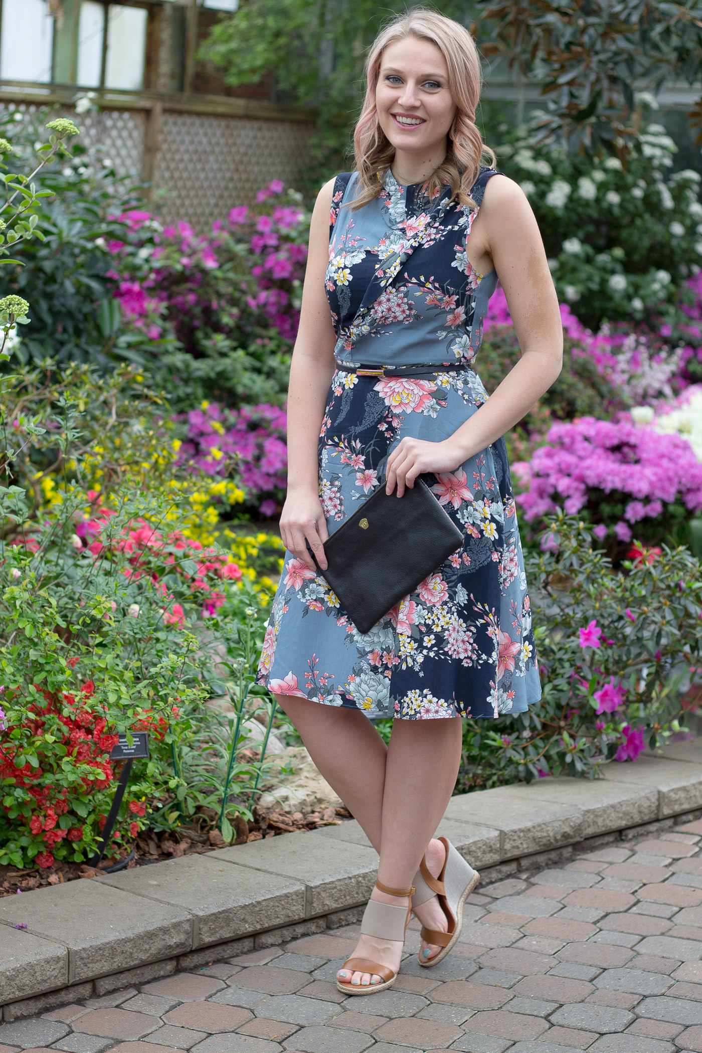 Why you need a dark floral dress this spring season