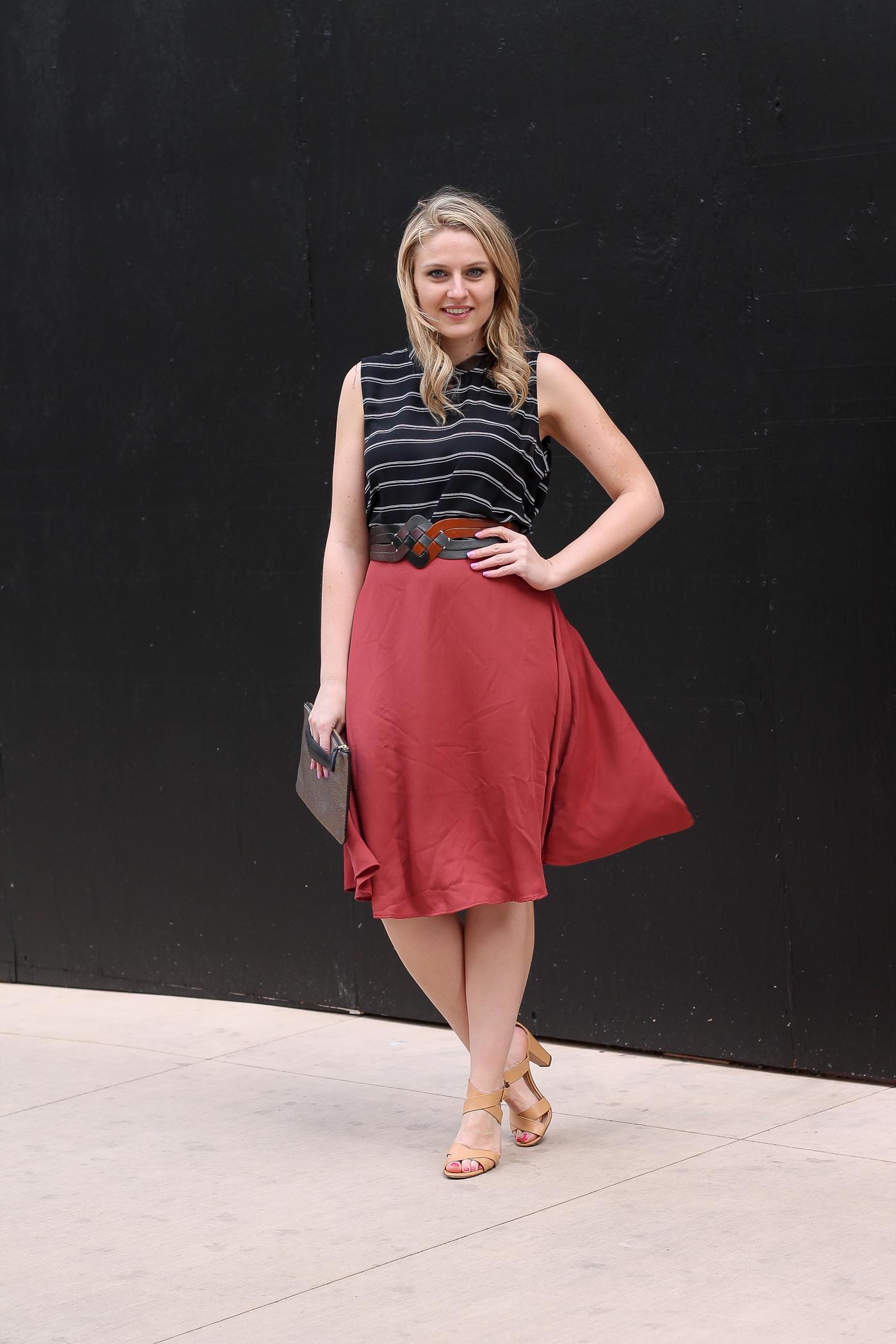 Fall Colors Tobi Midi Skirt