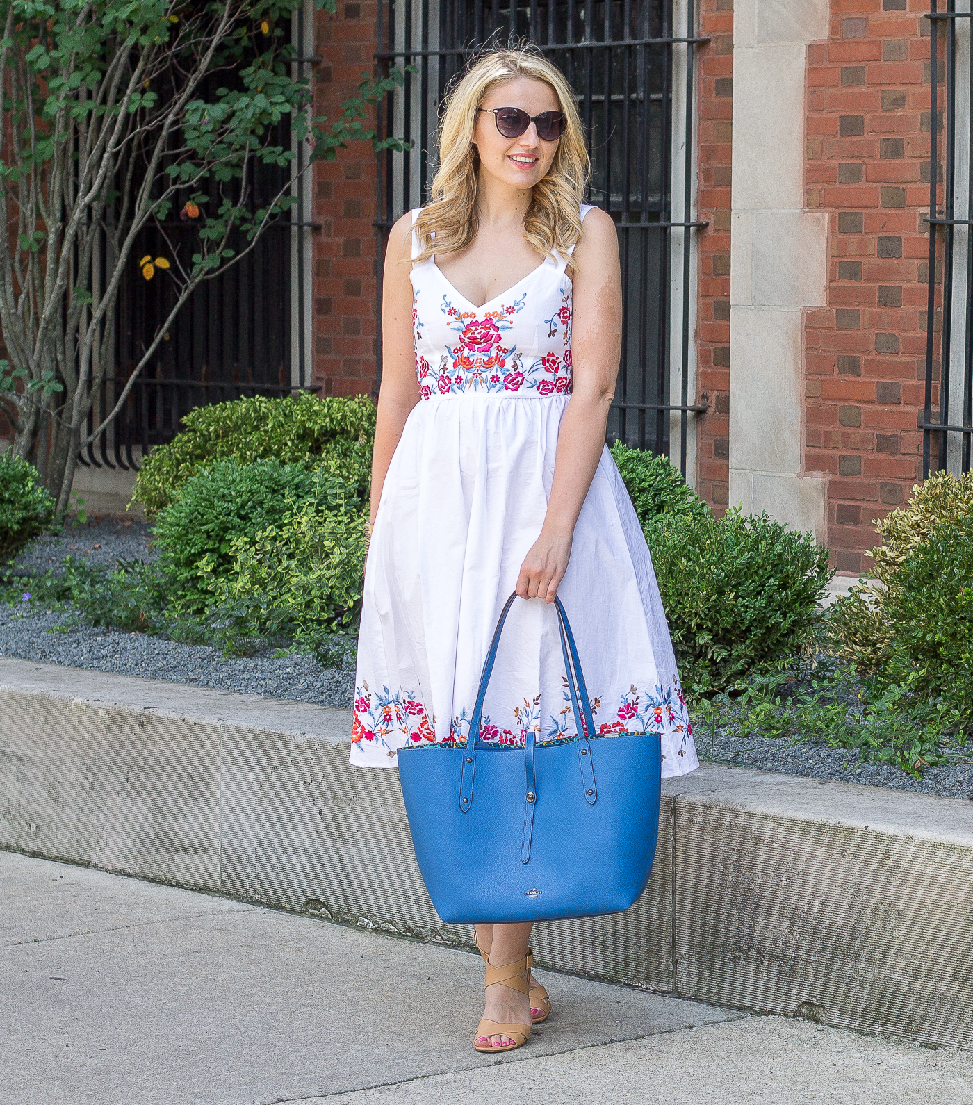 How to wear a summer white midi dress