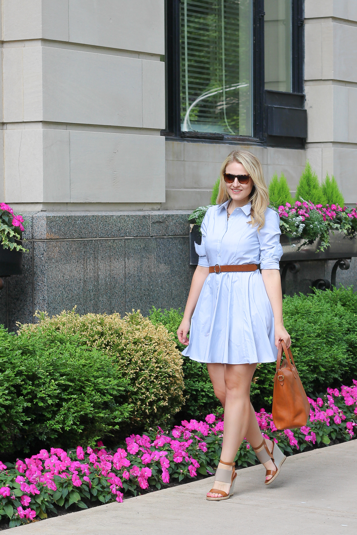 How to wear a buttoned down dress this summer