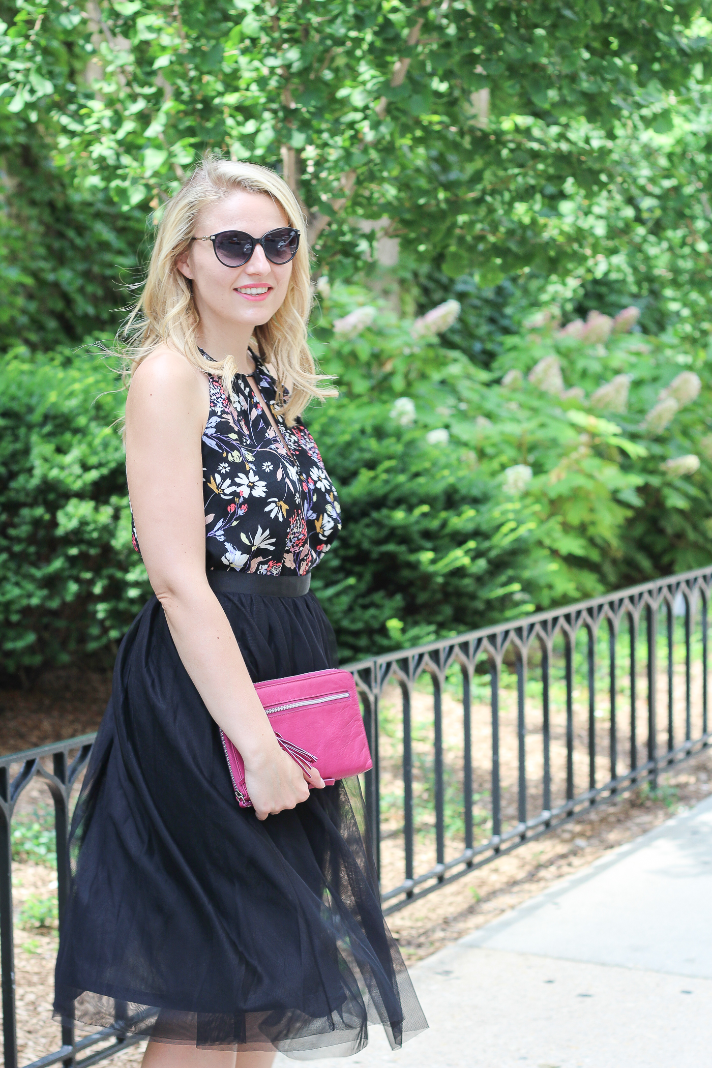 How to wear a halter top with a tulle skirt