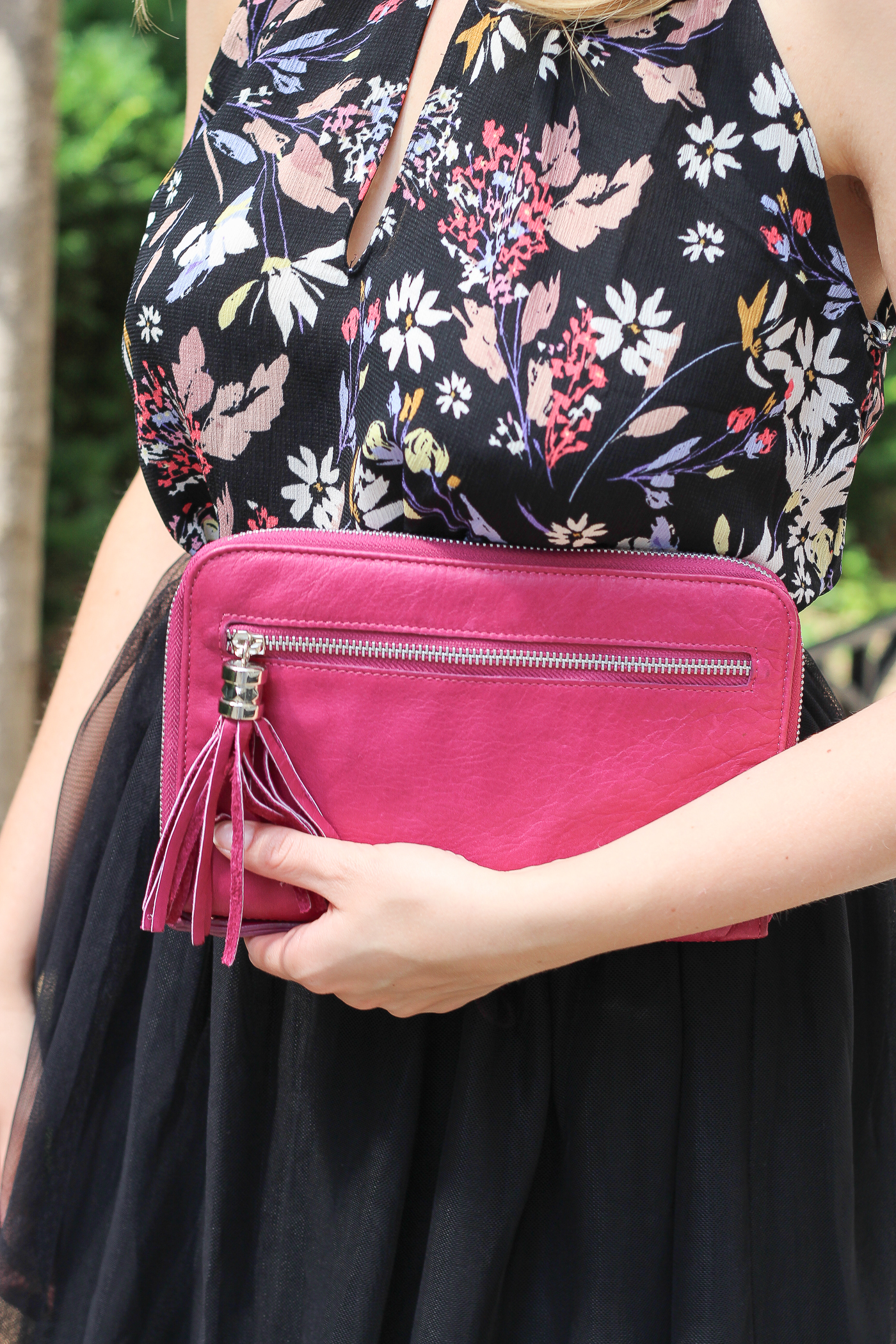Forever 21 purple clutch