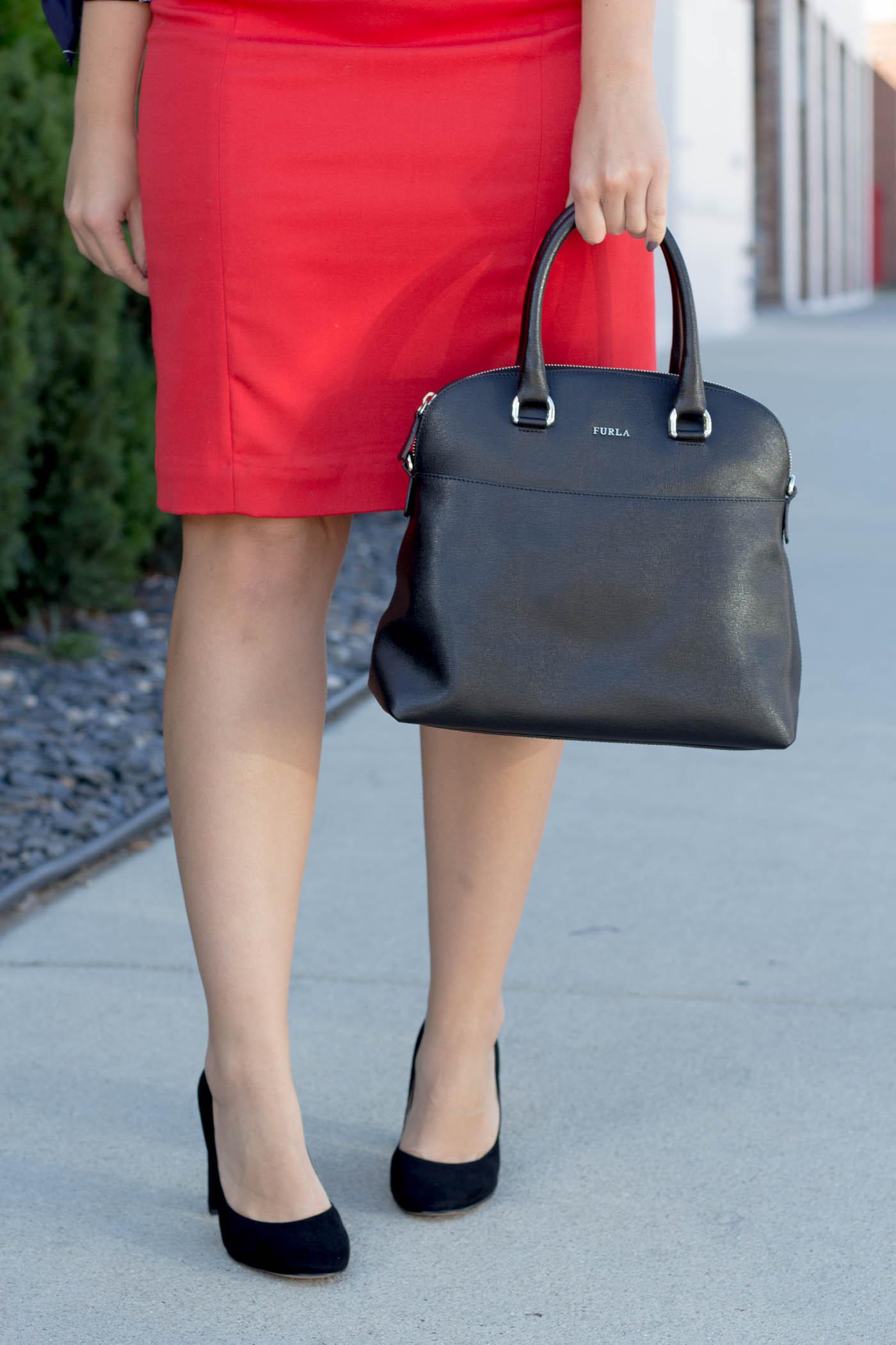 Sam Edelman pumps and Furla handbag