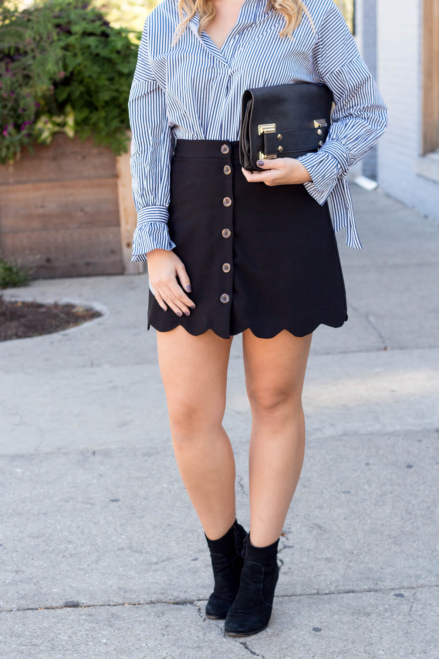 Black button down skirt from ASOS