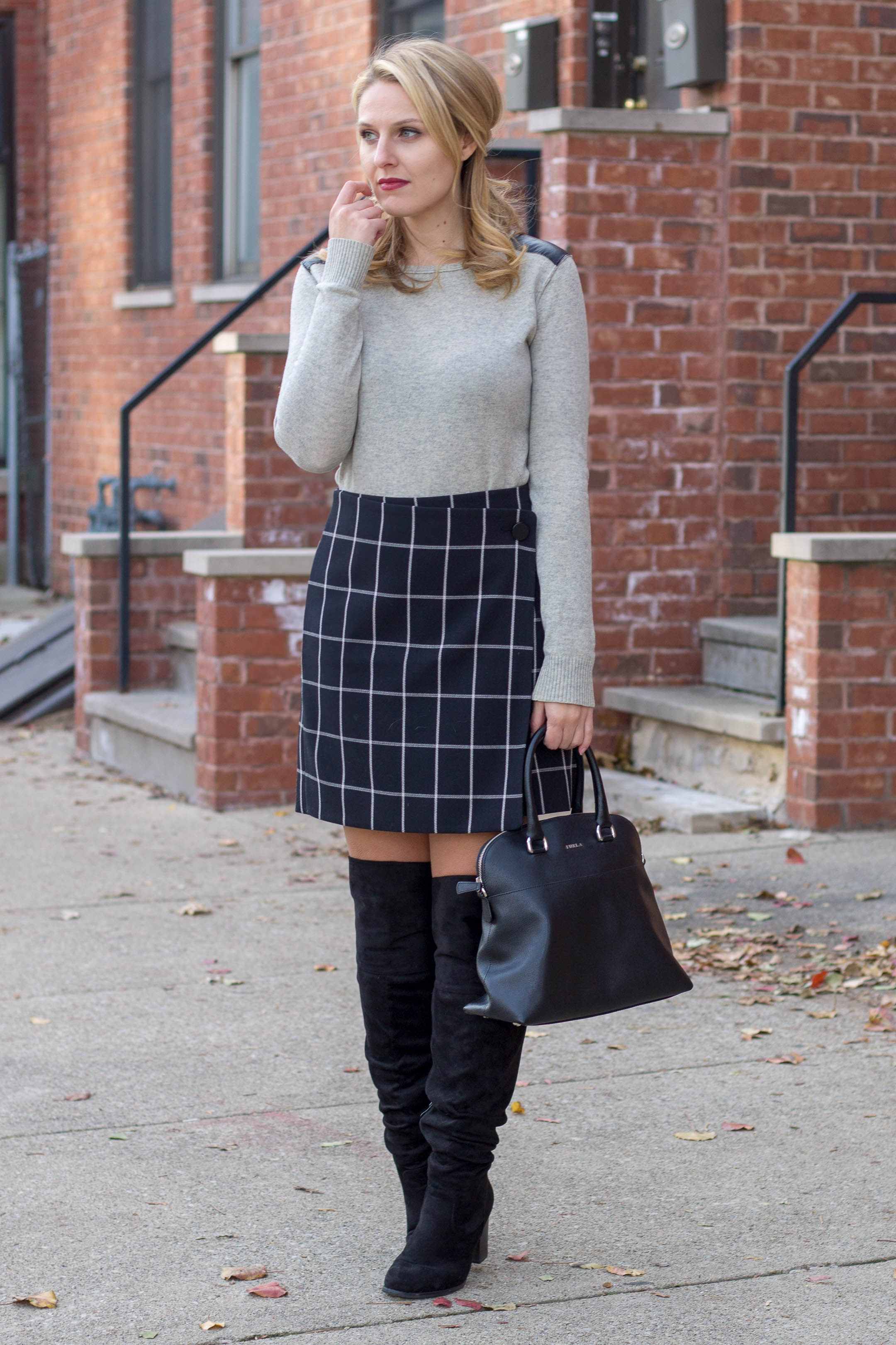 Why the windowpane skirt is the most versatile item in your closet