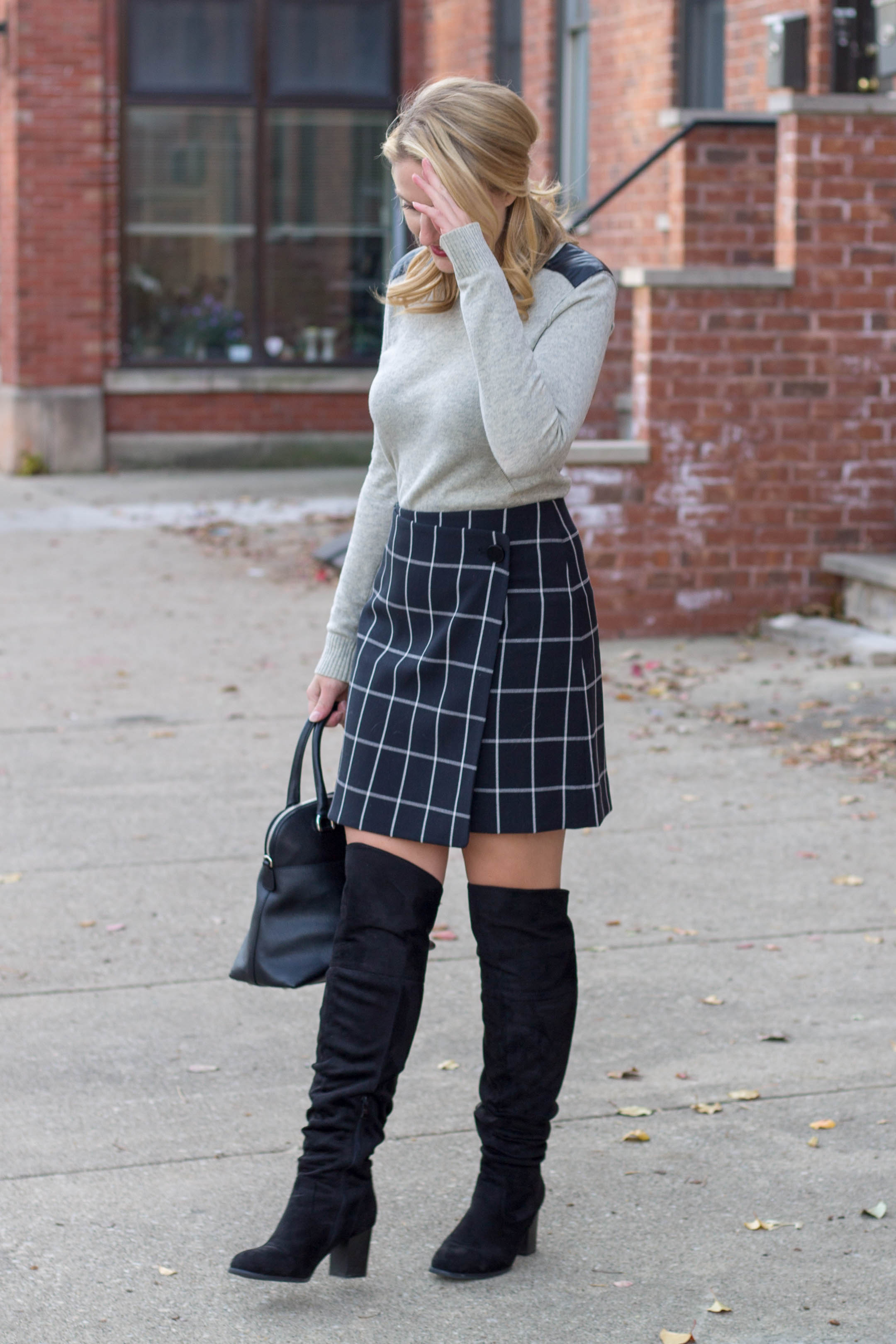 Why you need to own a windowpane skirt for the winter season