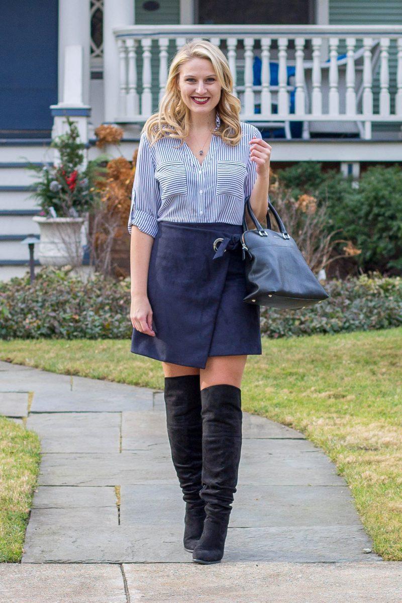 Asymmetrical Skirt // Navy