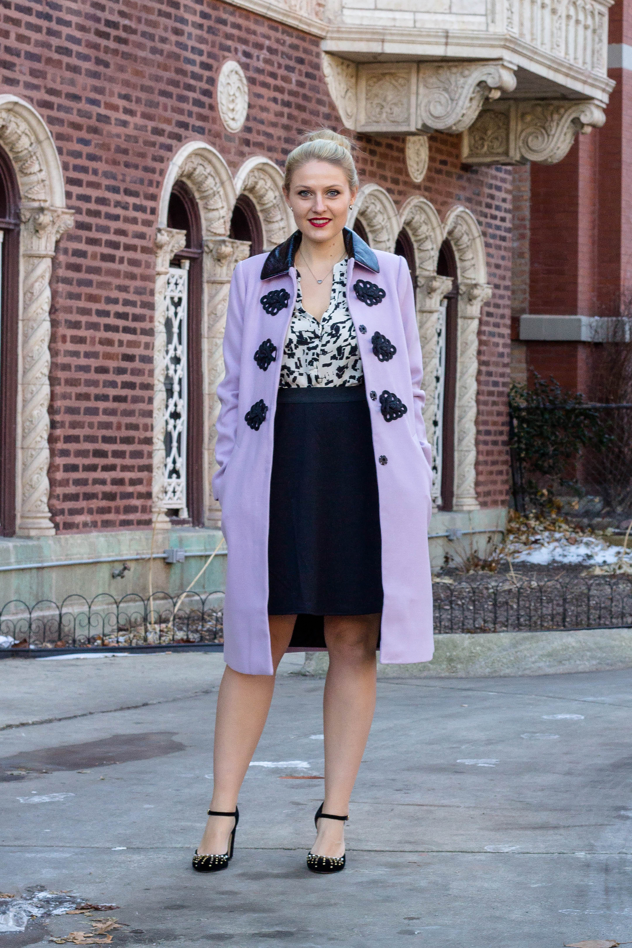 A statement lilac coat from ASOS for under $100