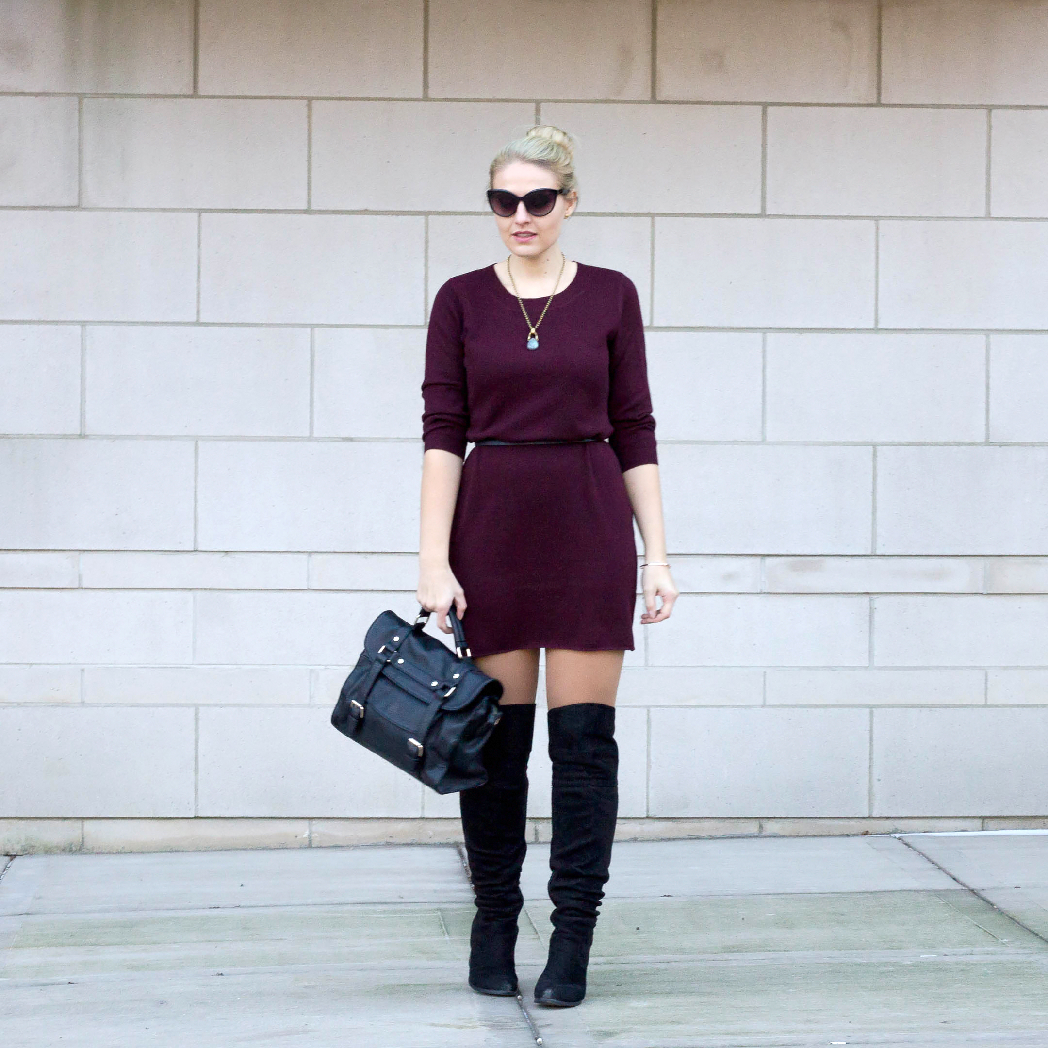 Why you need this under $50 sweater dress from BB Dakota