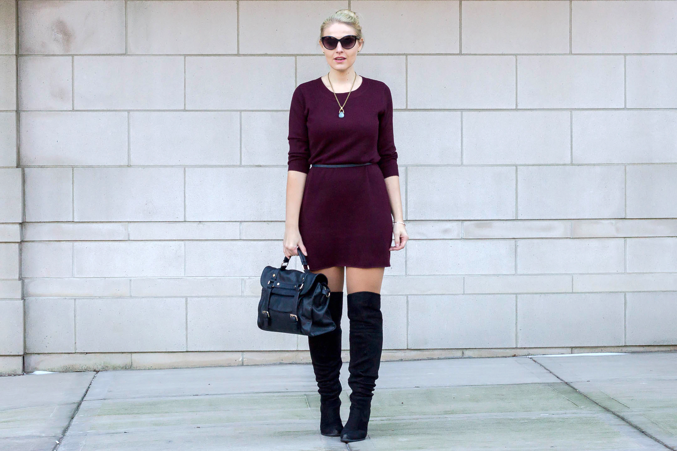 Why every girl should own a sweater dress as part of their winter wardrobe