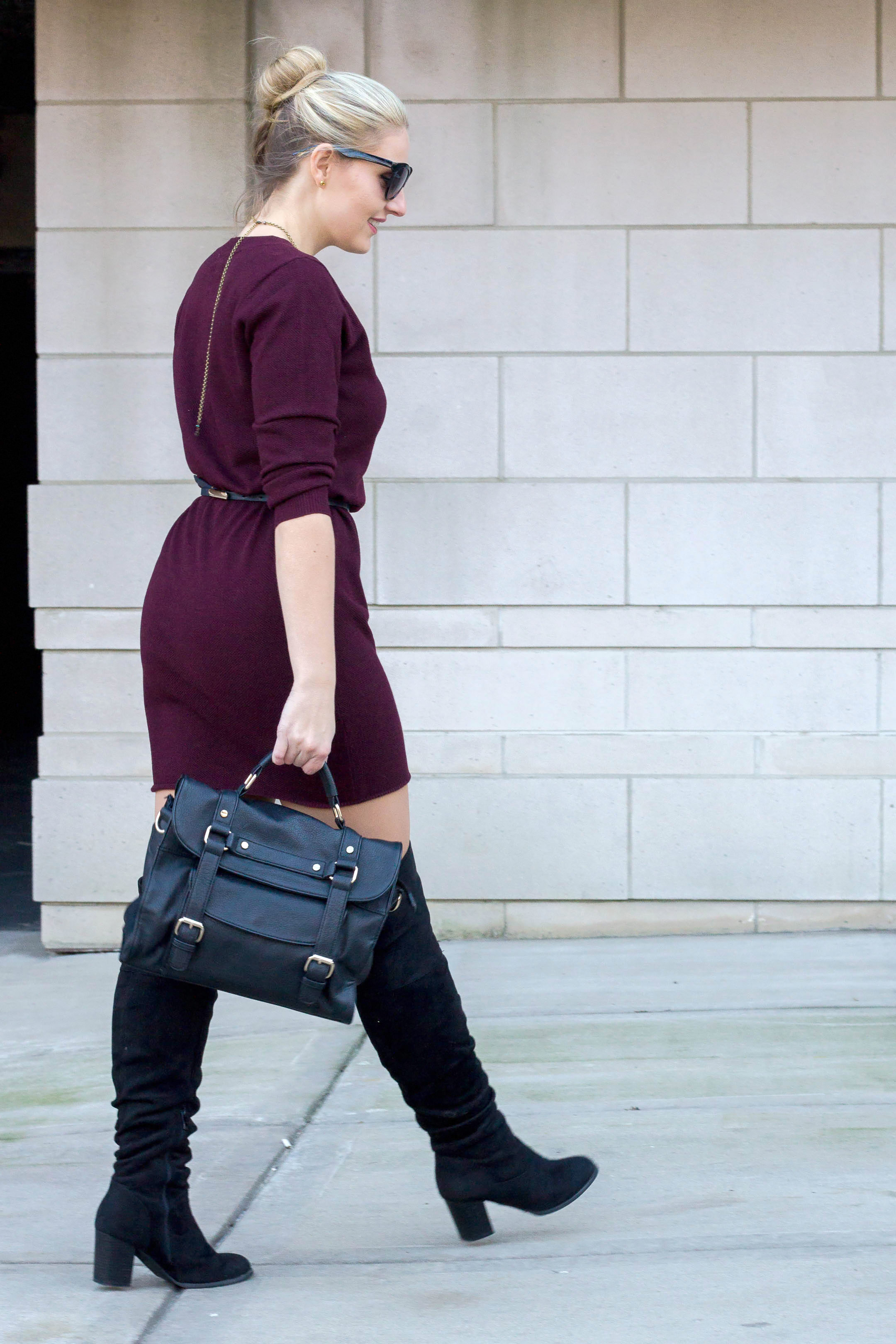 How to wear a sweater dress to the office