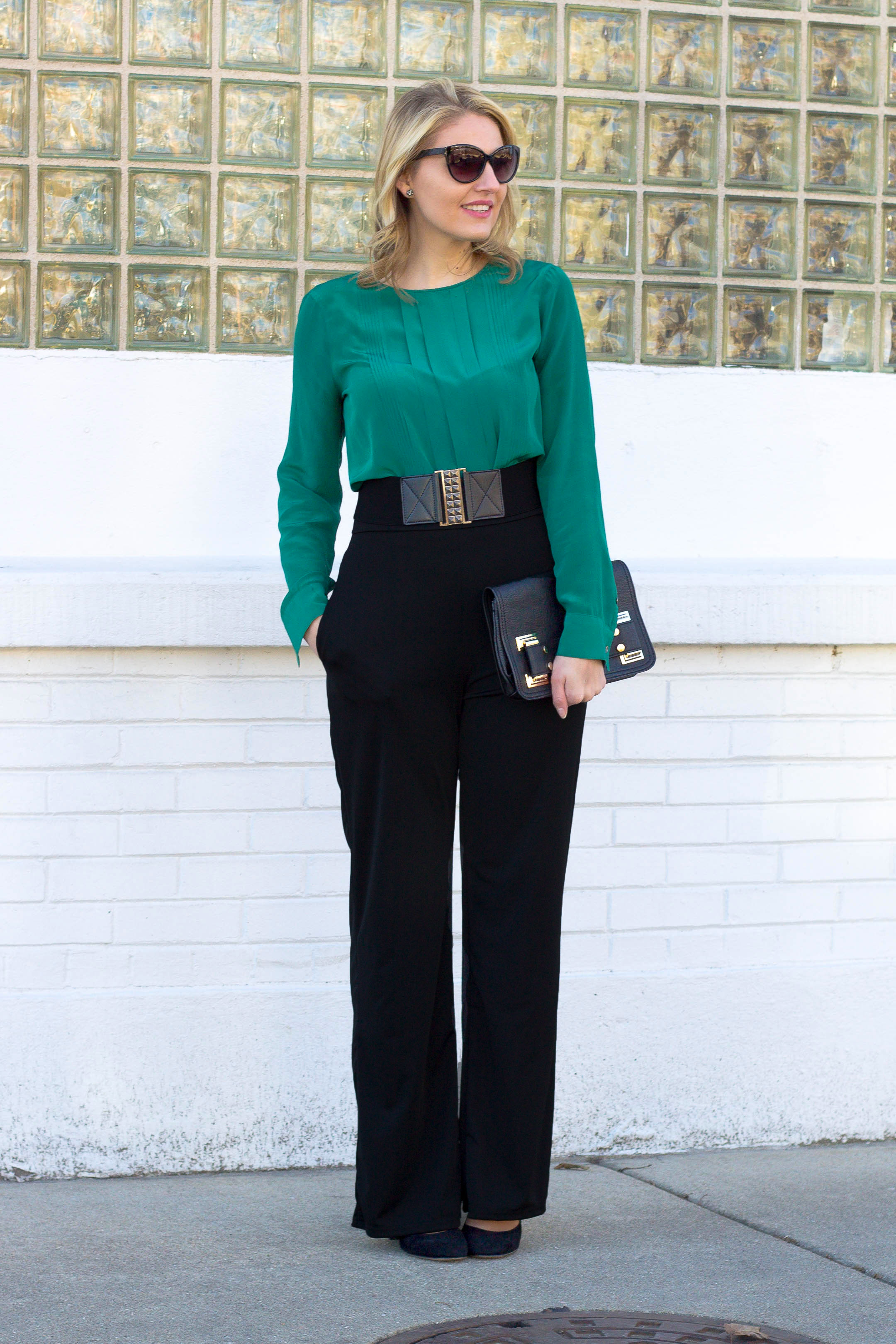 How to wear high waisted pants to the office