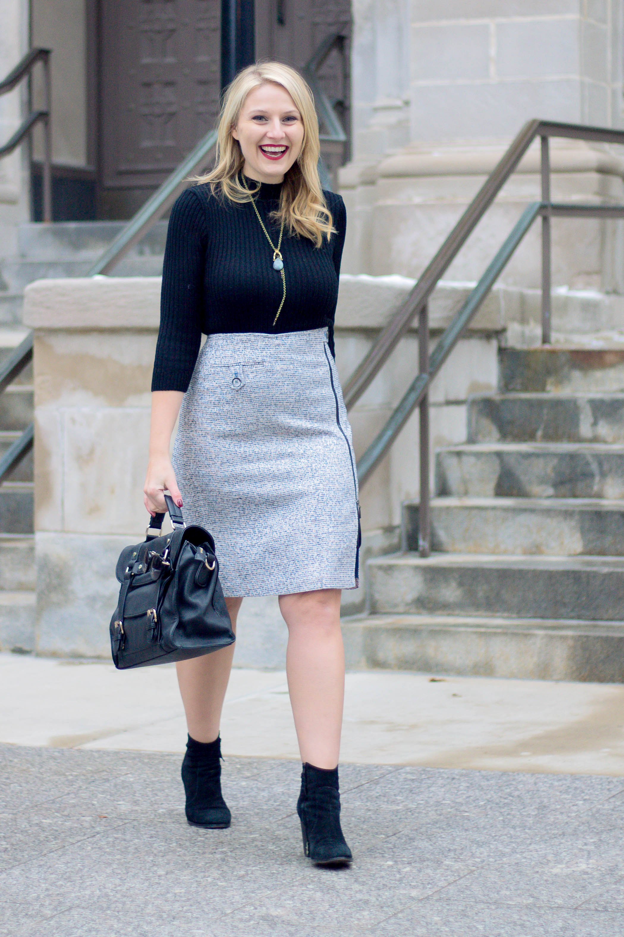 How to wear a tweed skirt this winter