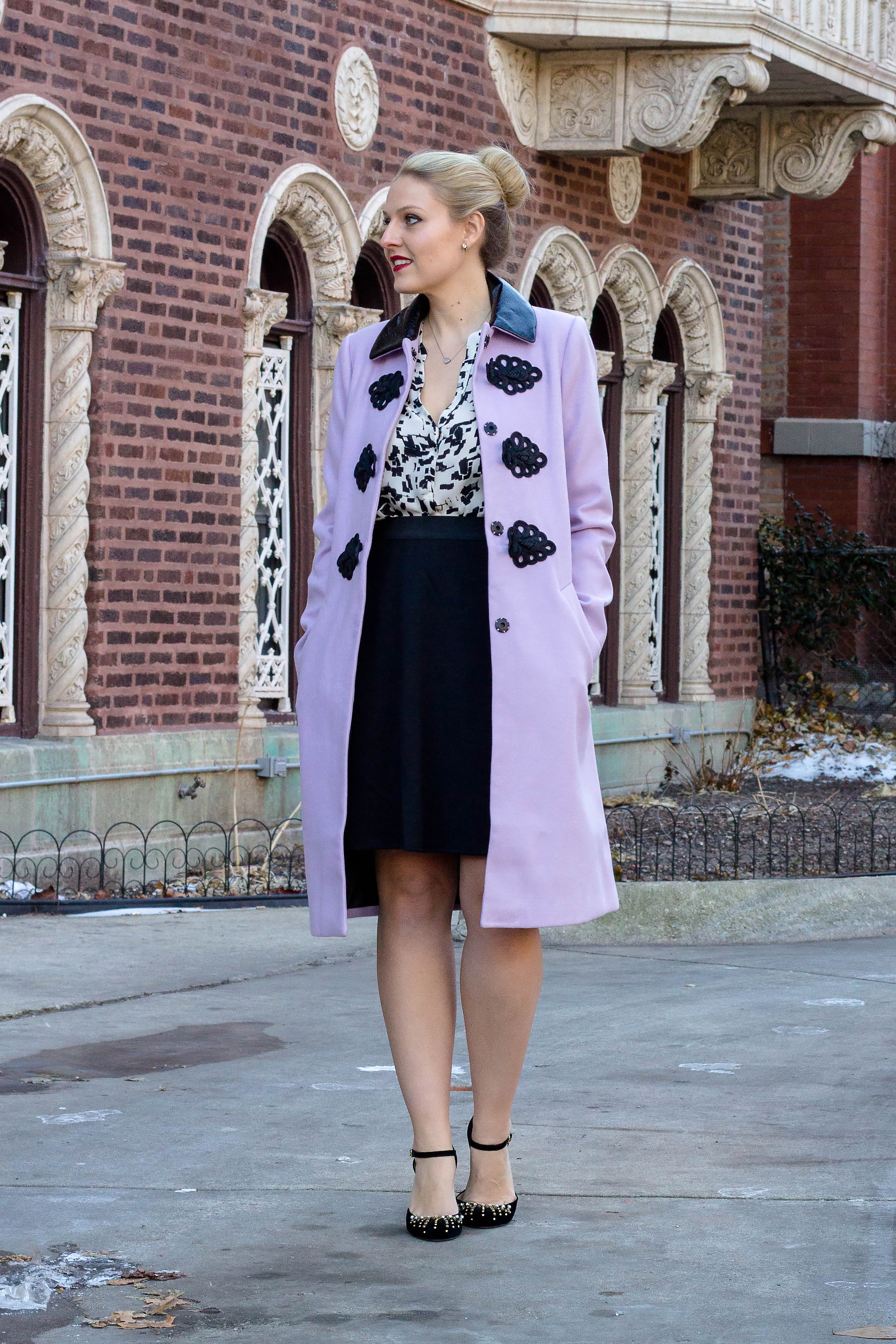How to wear lilac this winter season with this statement coat from ASOS