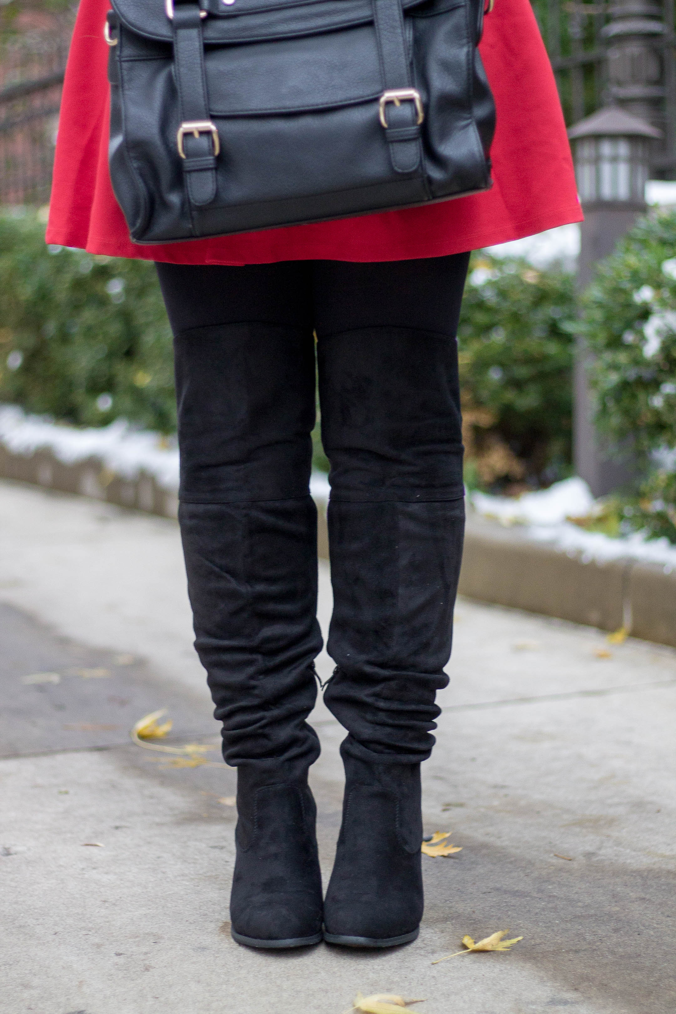 Journee Collection Knee High Boots in Black