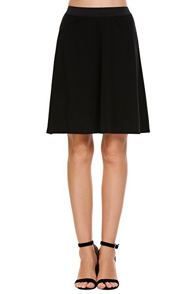 Winter Wardrobe Staples: Black Knee Length Skirt