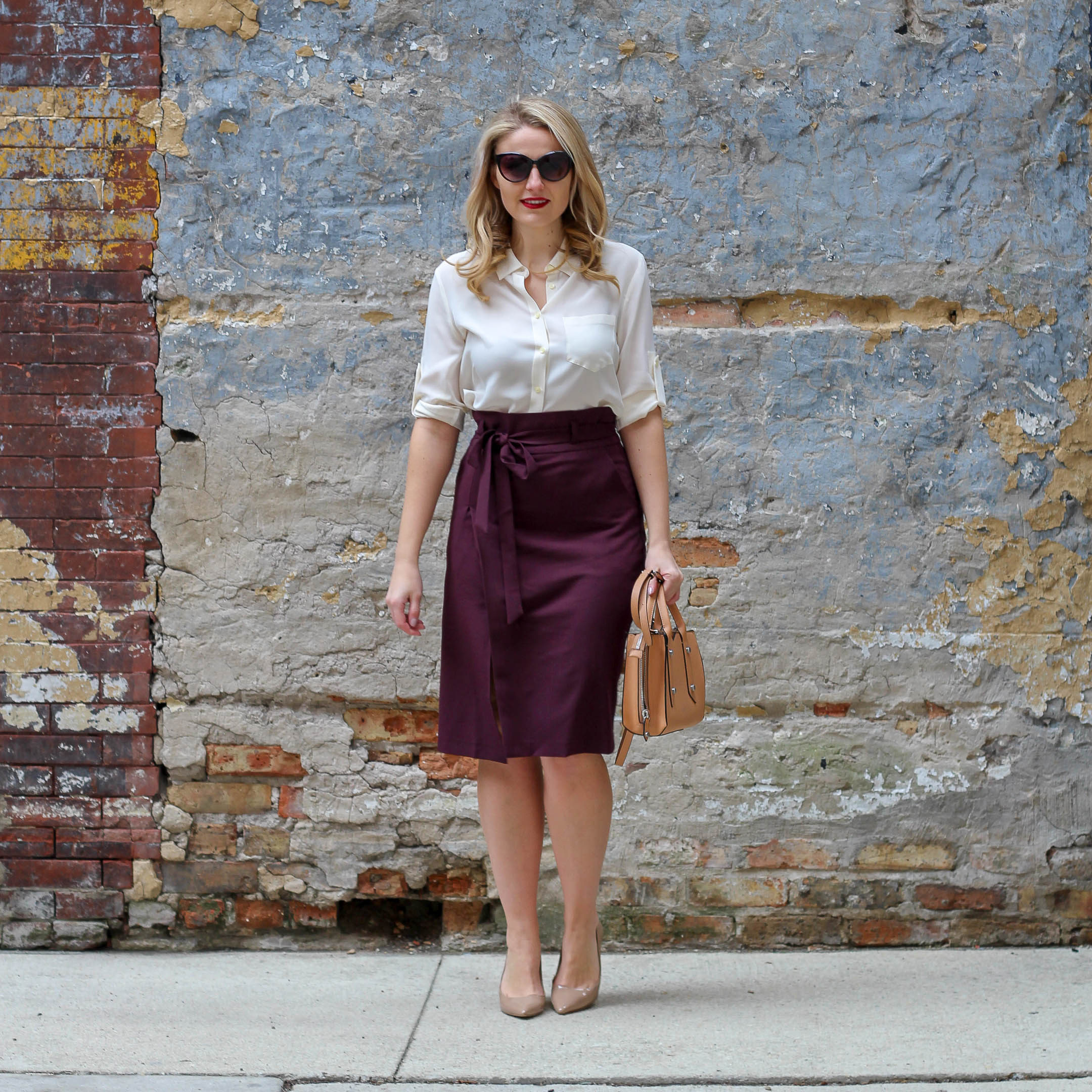 The Paperbag Skirt // Burgundy