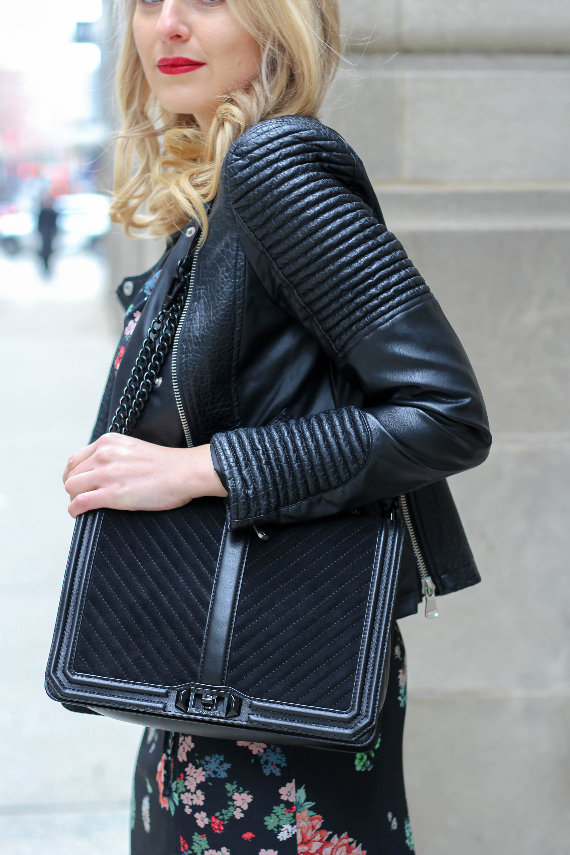 The Rebecca Minkoff quilted cross body bag
