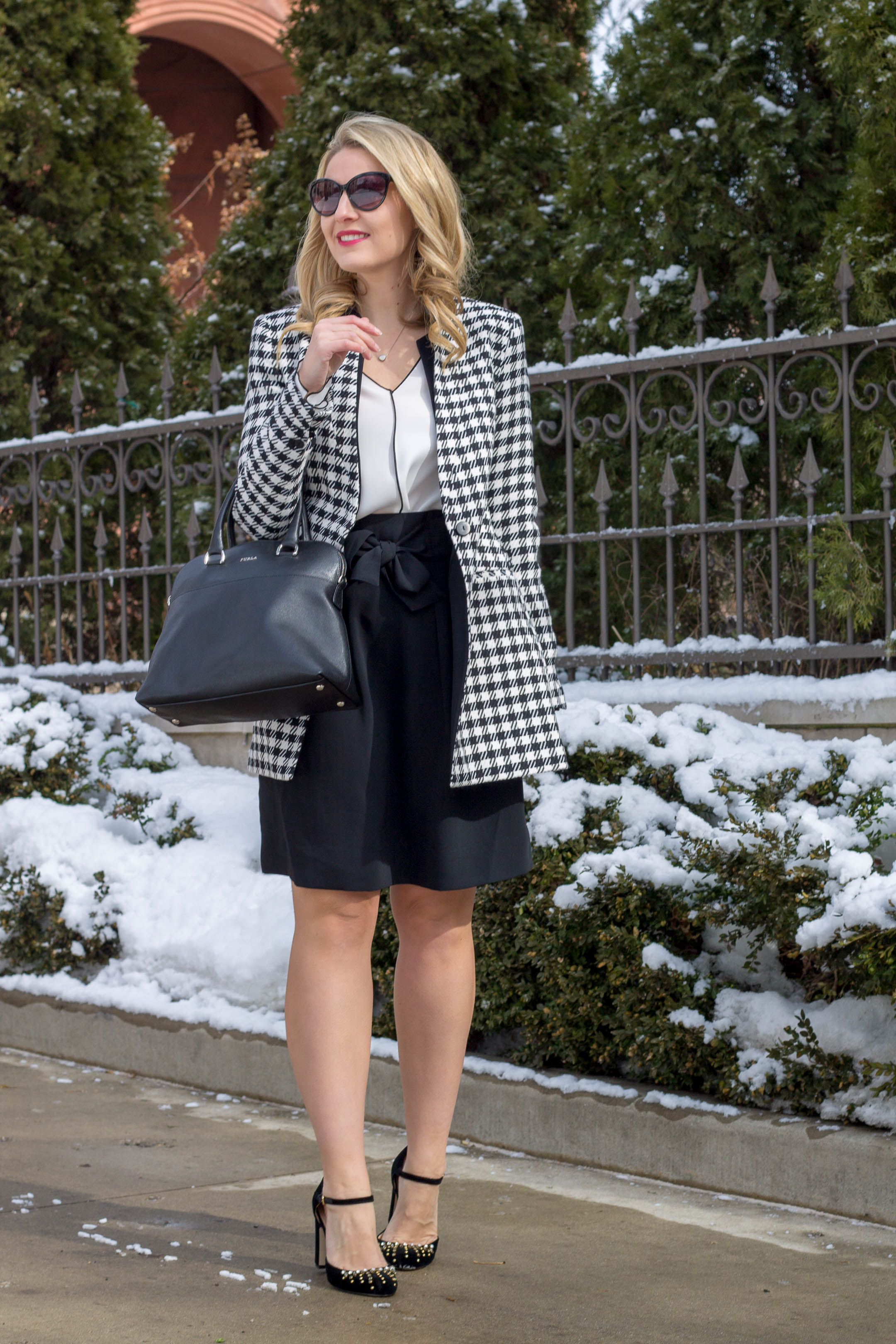 The perfect houndstooth jacket for under $100