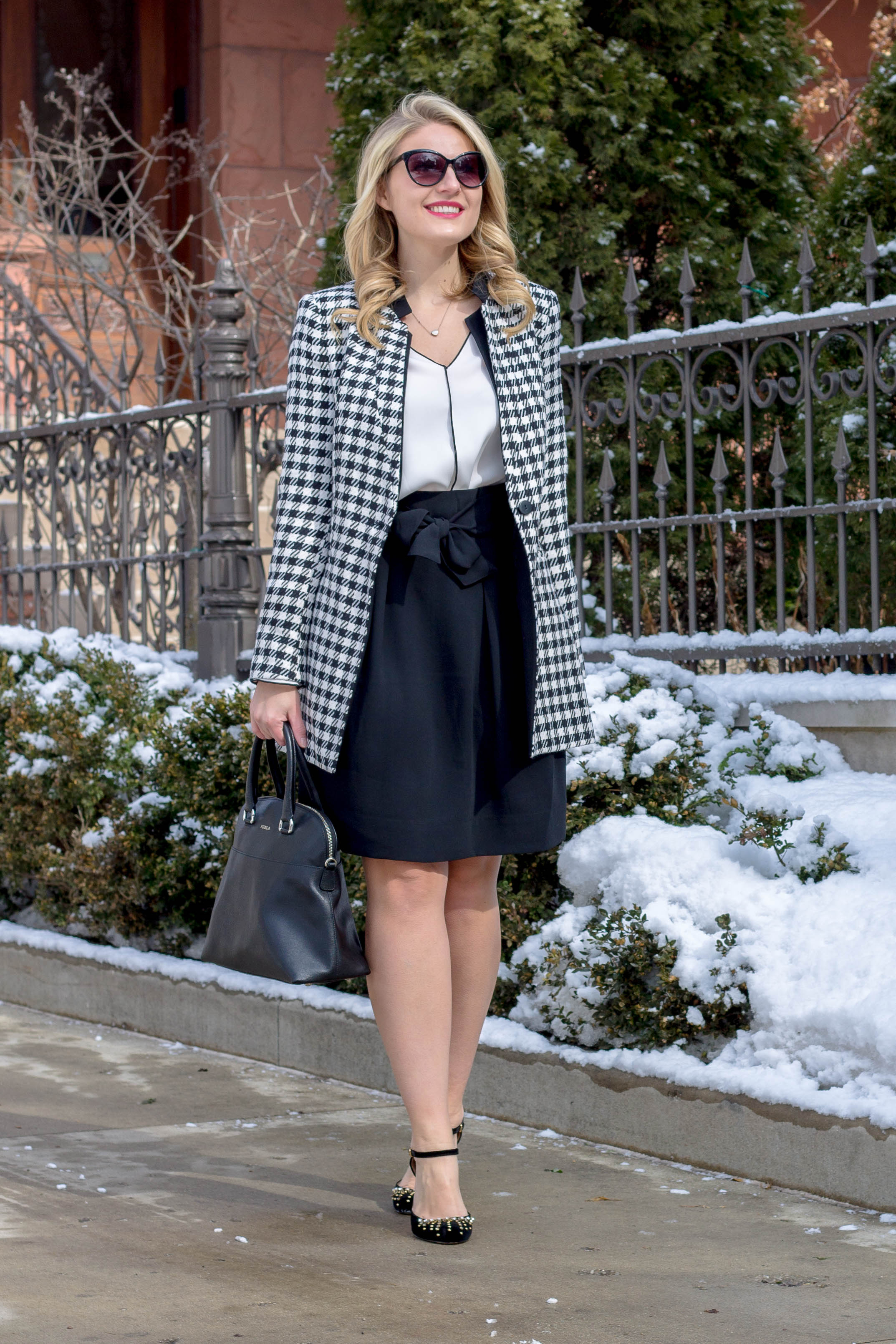 You need this Zara houndstooth jacket for under $100
