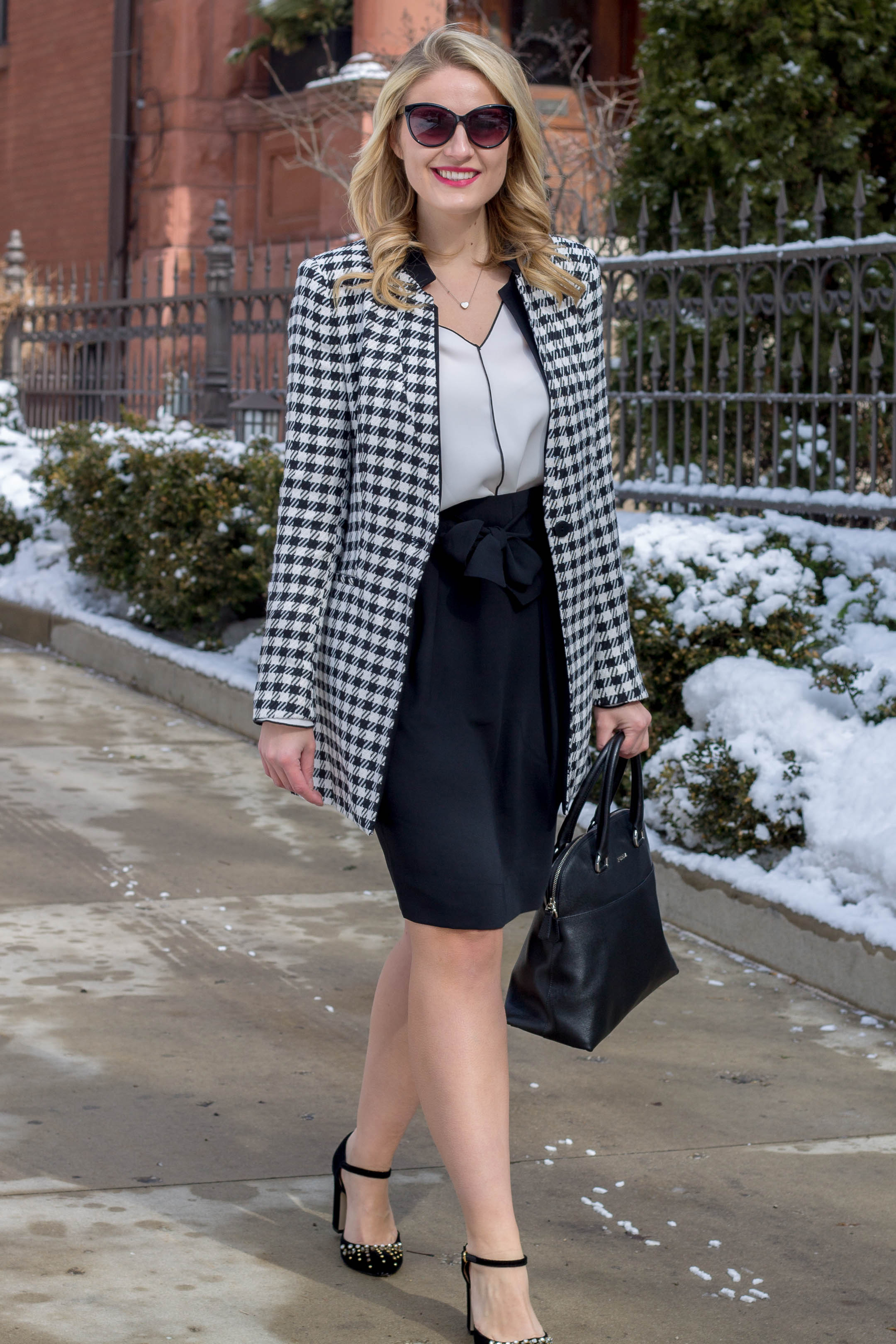How to wear a houndstooth jacket to the office