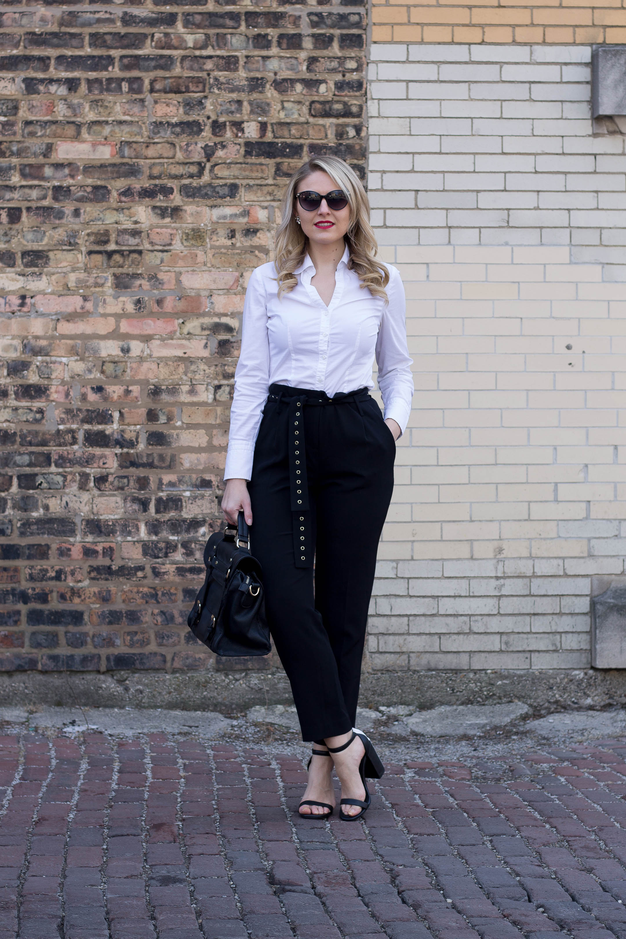 How to wear the Calvin Klein Studded Belt Pant