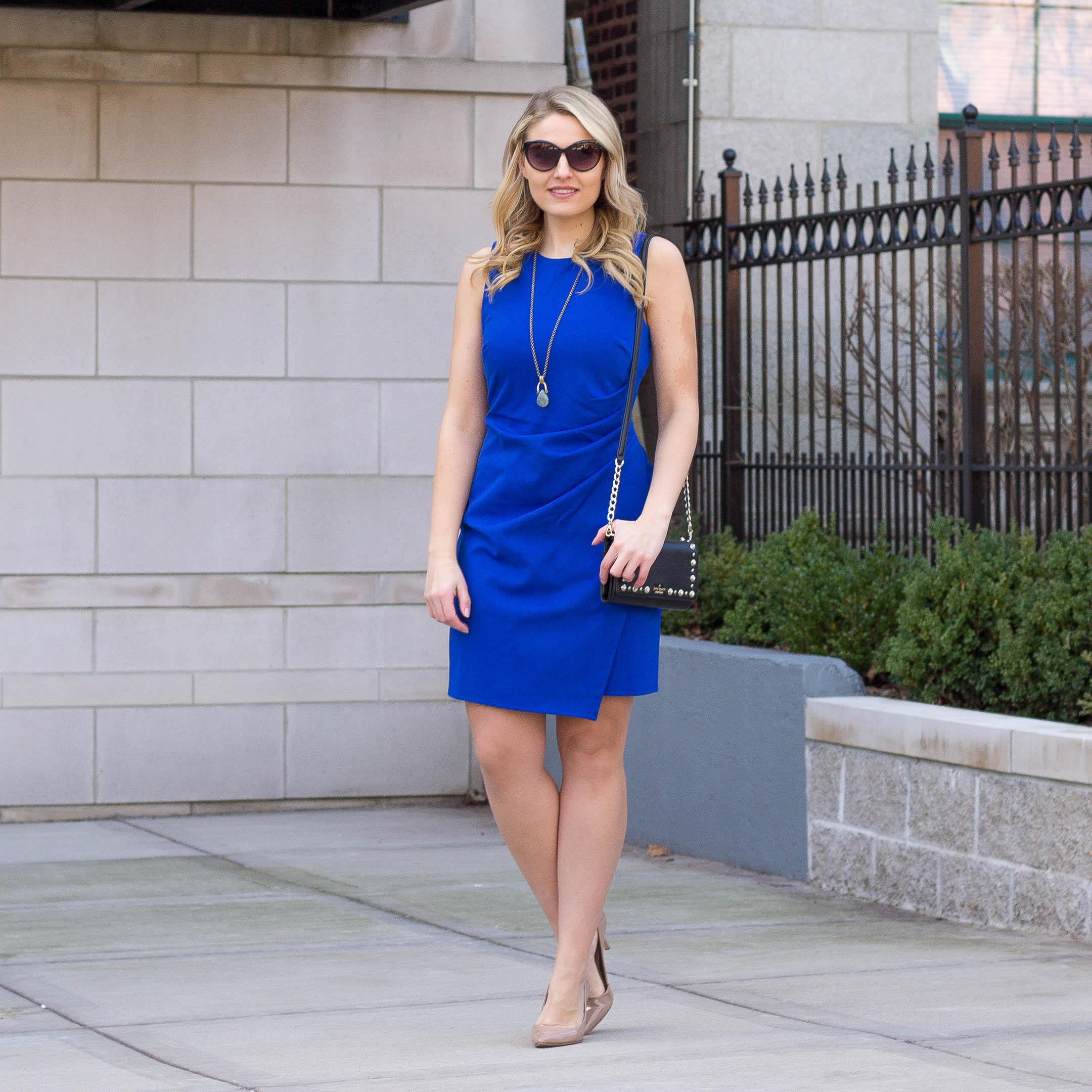 A Lark & Co Sheath Dress in Cobalt Blue for under $75