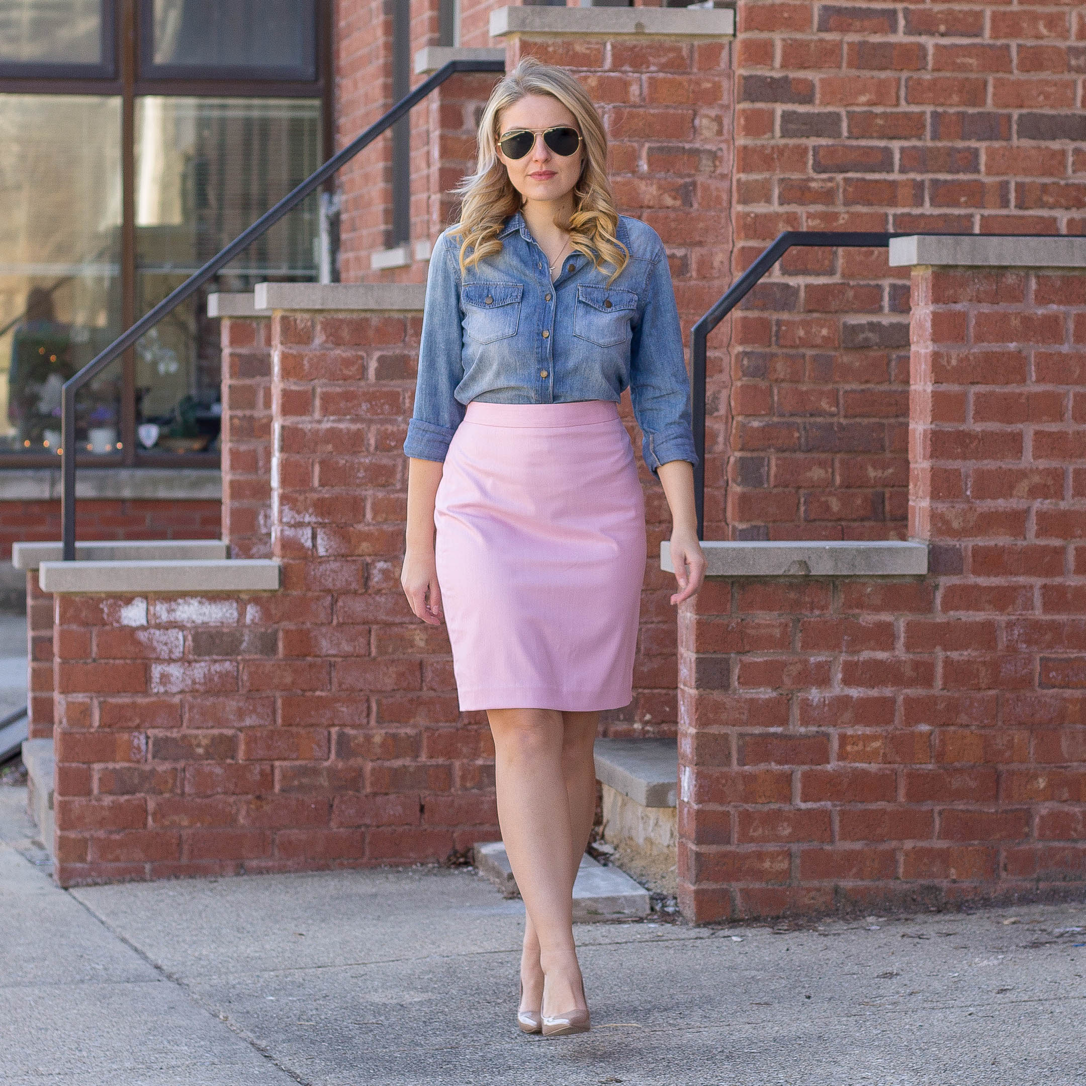 Spring Casual // Chambray & Pink