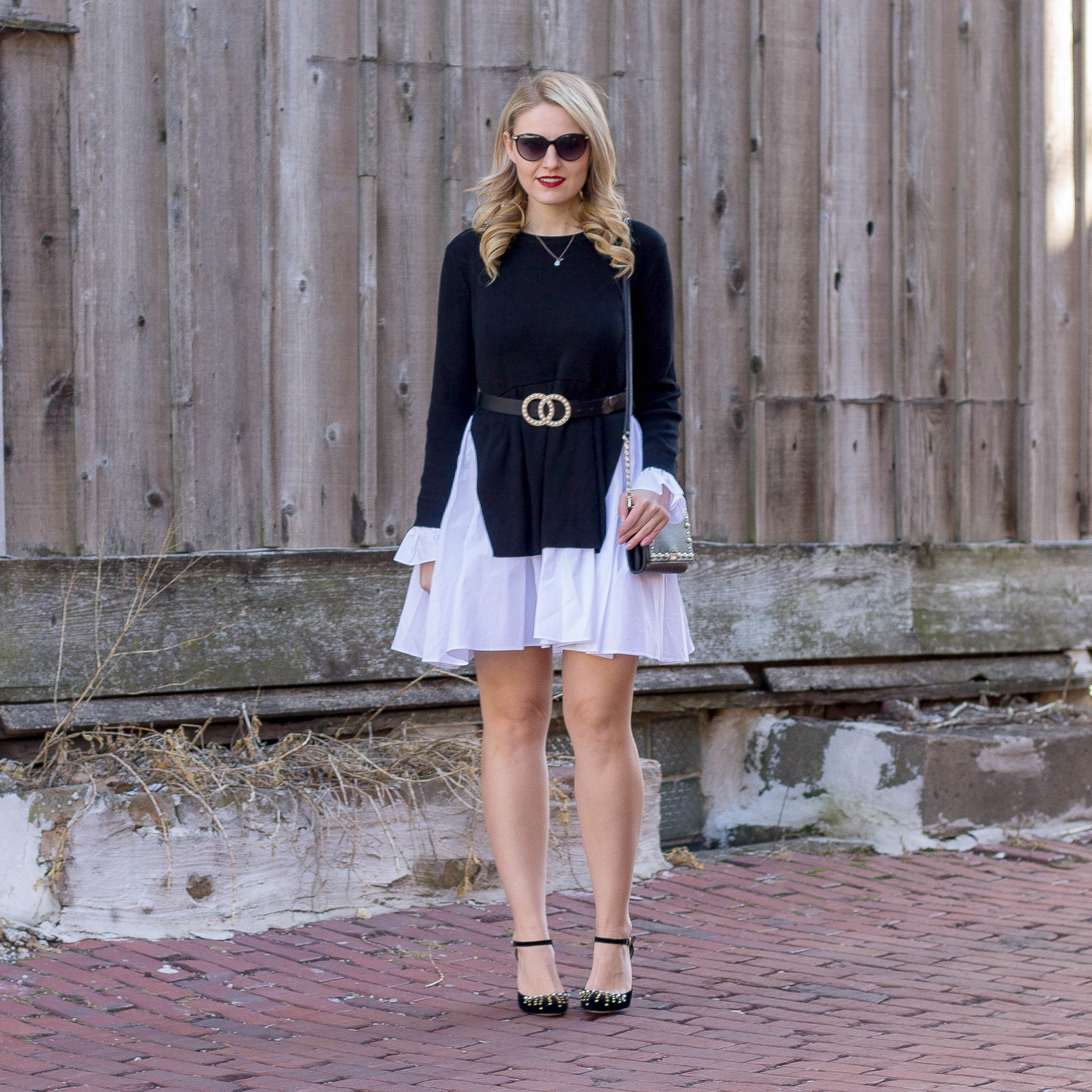 A English Rose fit and flare sweater Dress