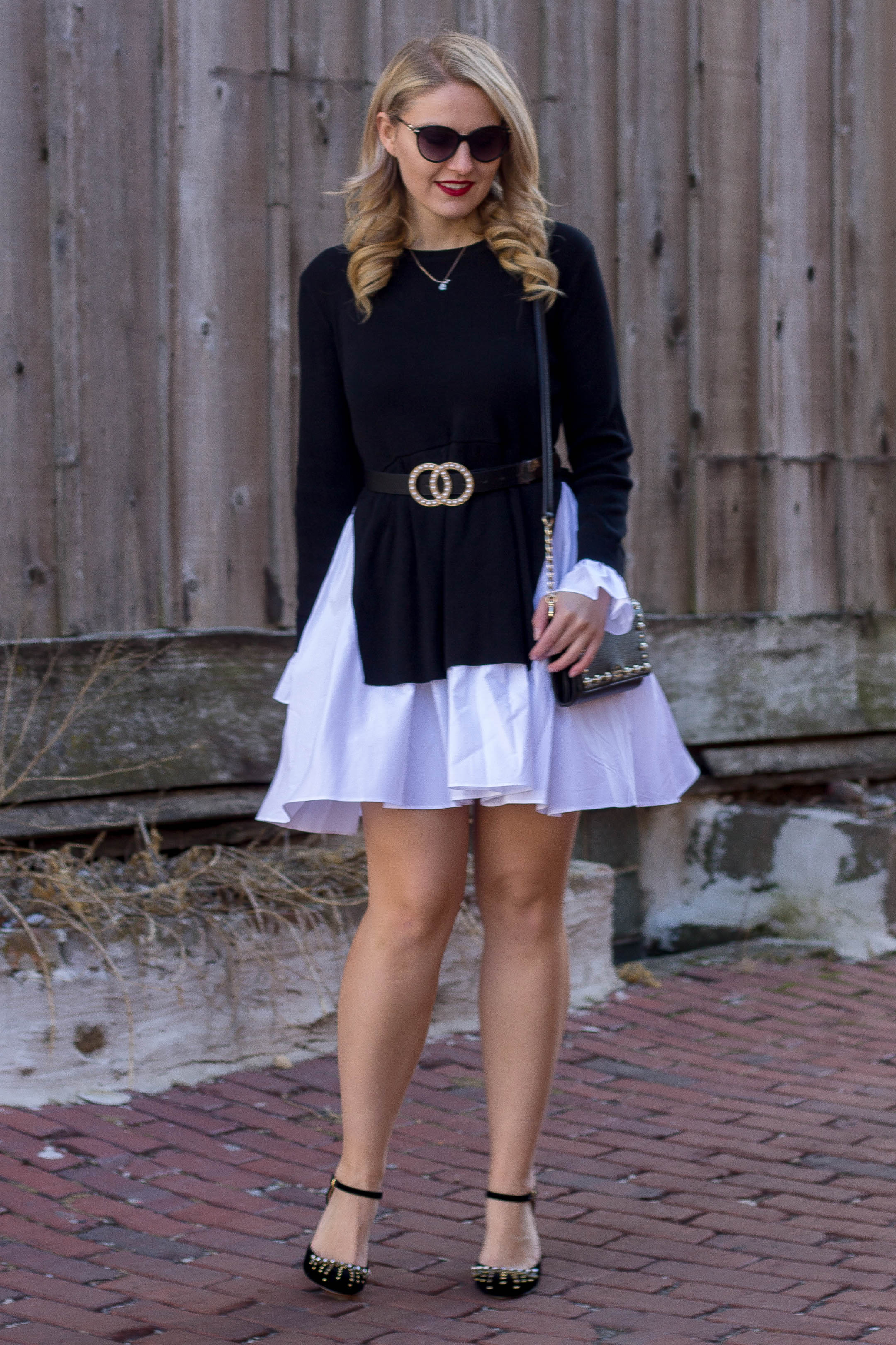 How to style a fit and flare sweater dress for date night