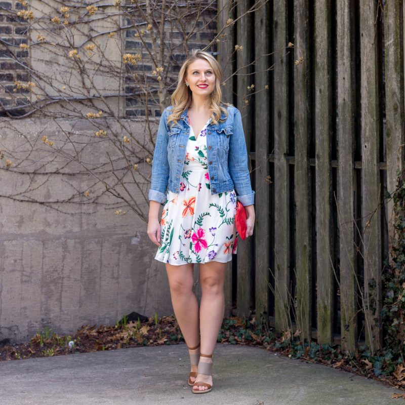 Vacation Style // Floral Dress & Jean Jackets