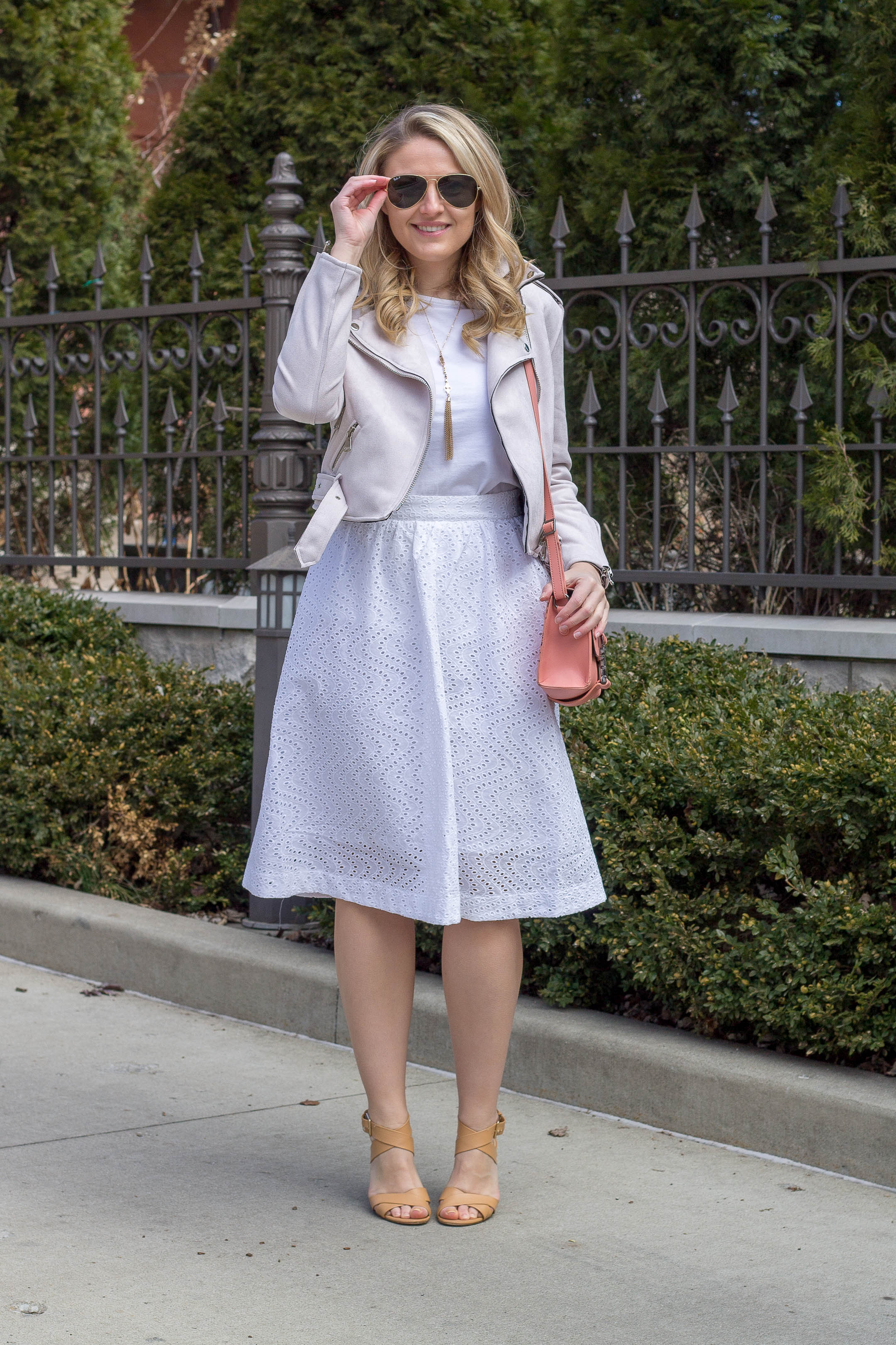 How to wear an all white outfit this spring