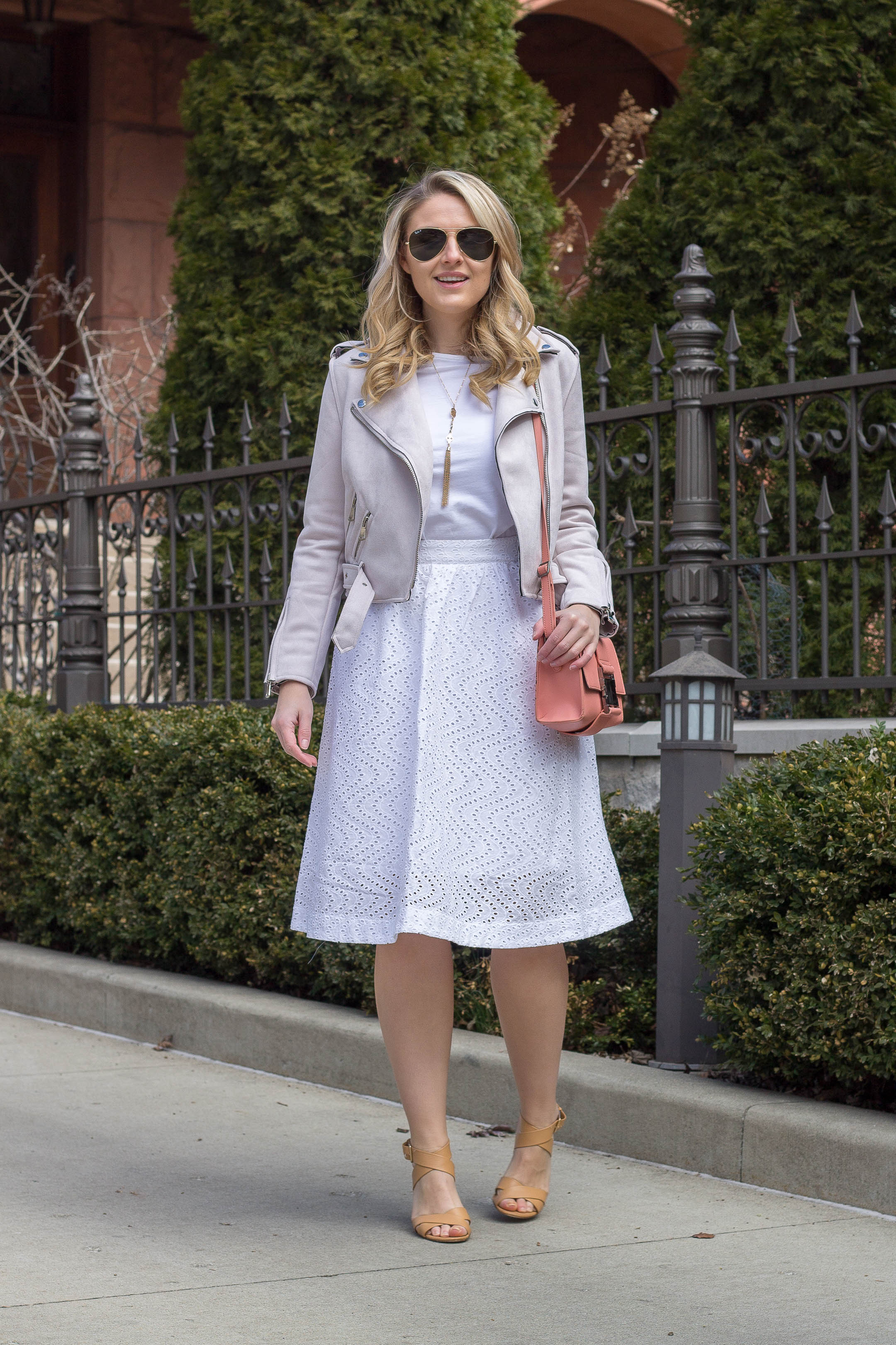 How to wear all white this spring to the office