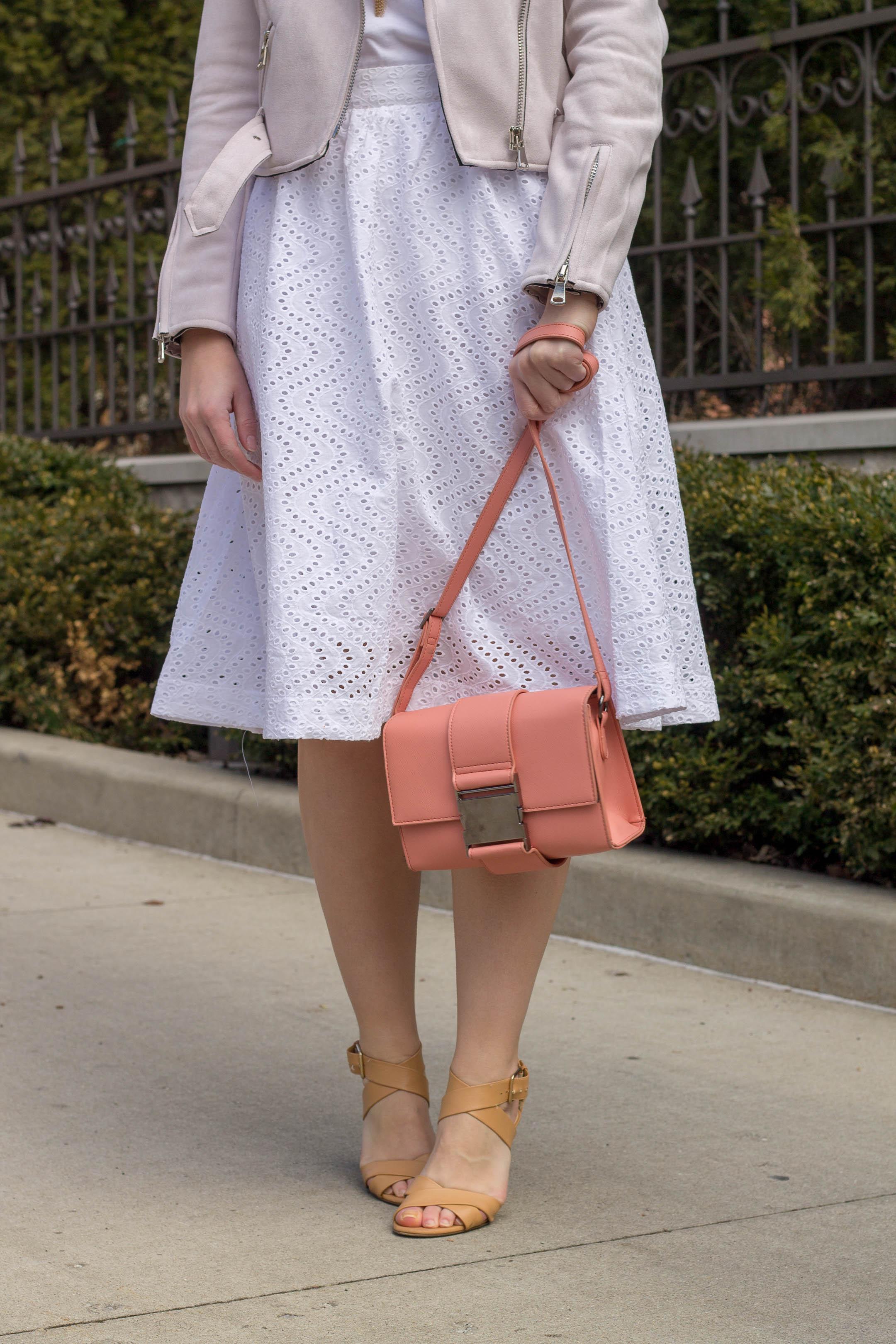 ASOS coral crossbody handbag