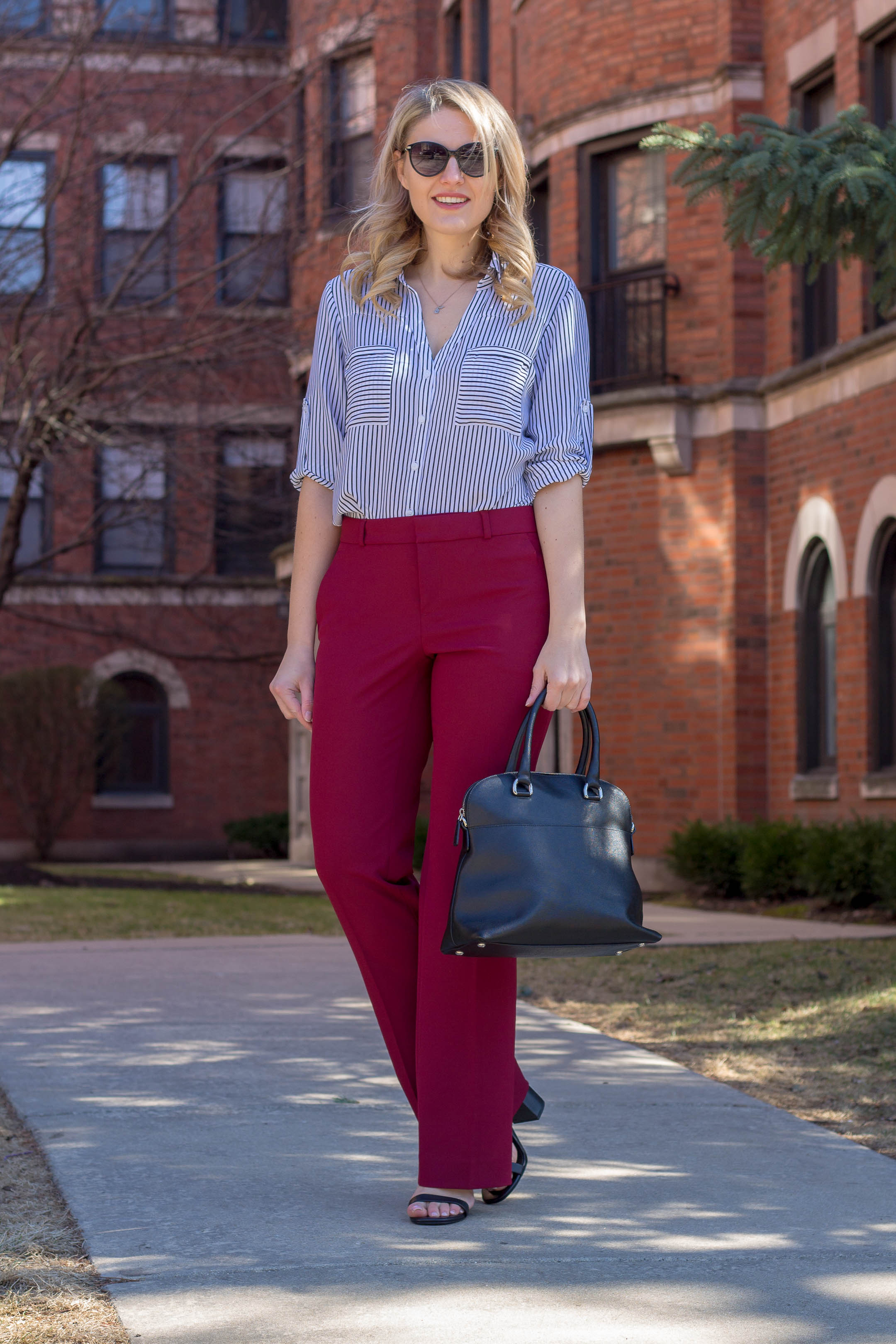 A spring corporate outfit for women looking for new spring staples