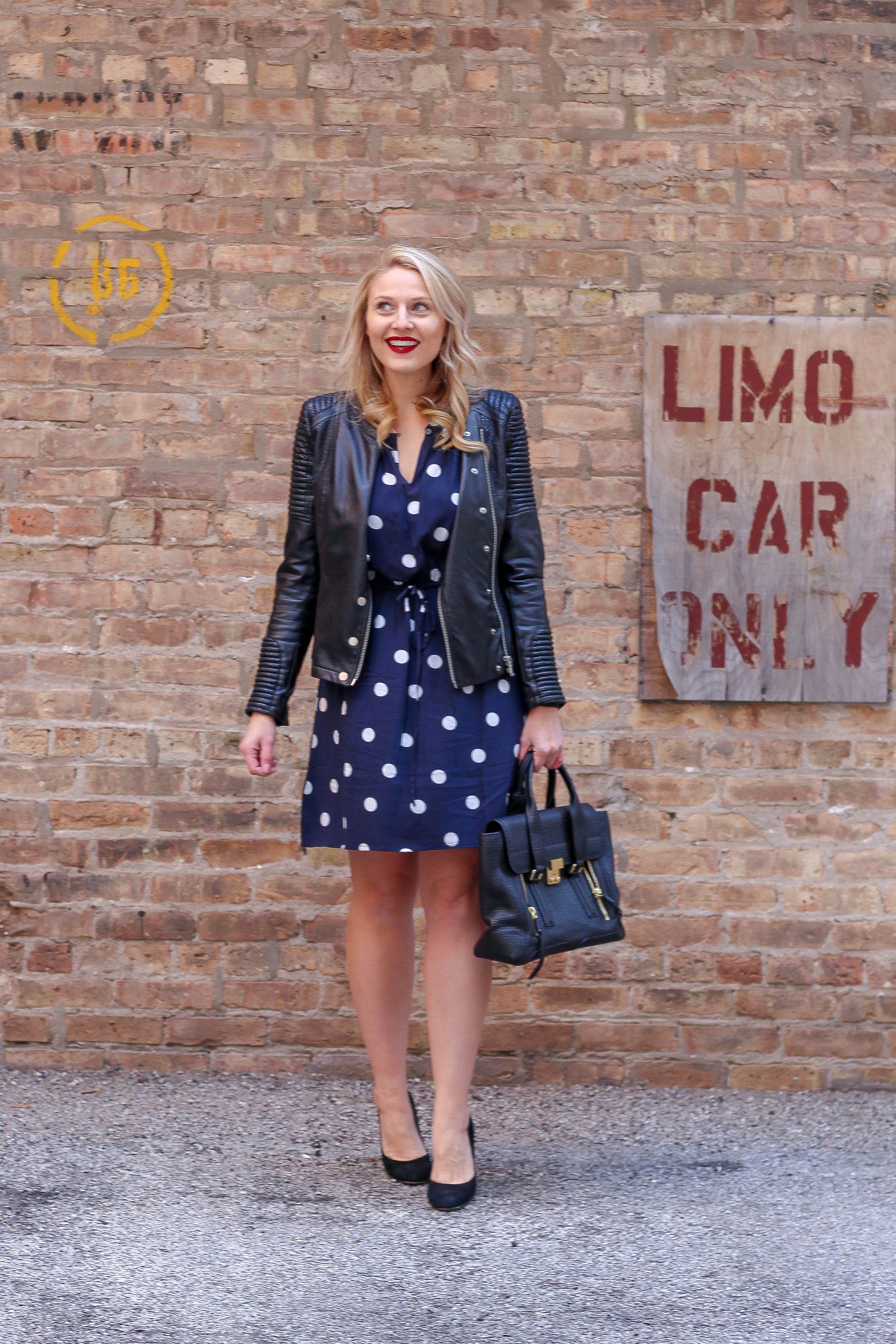 How to style the polka dots trend for the workplace with this LOFT dress