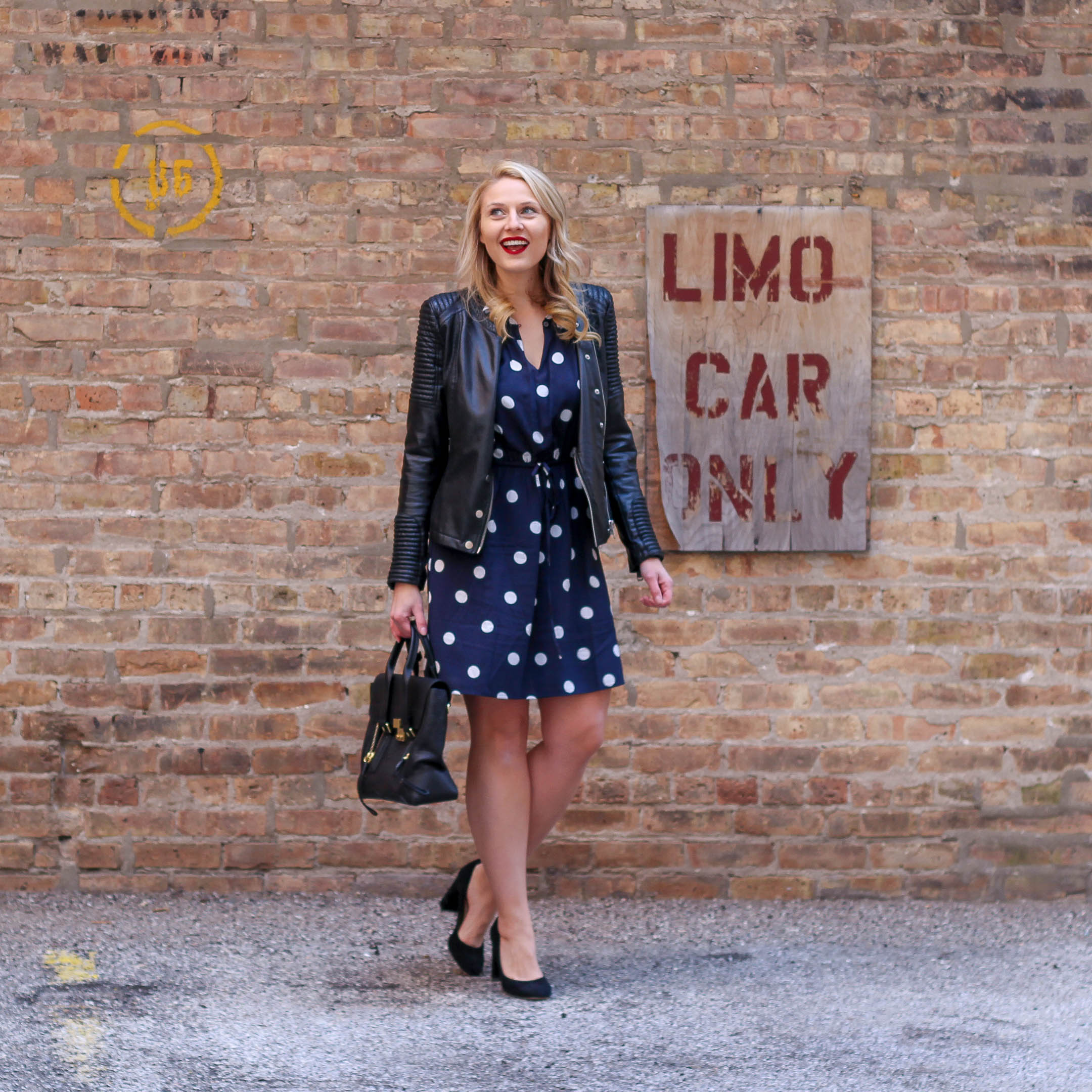 An under $50 polka dot dress from LOFT