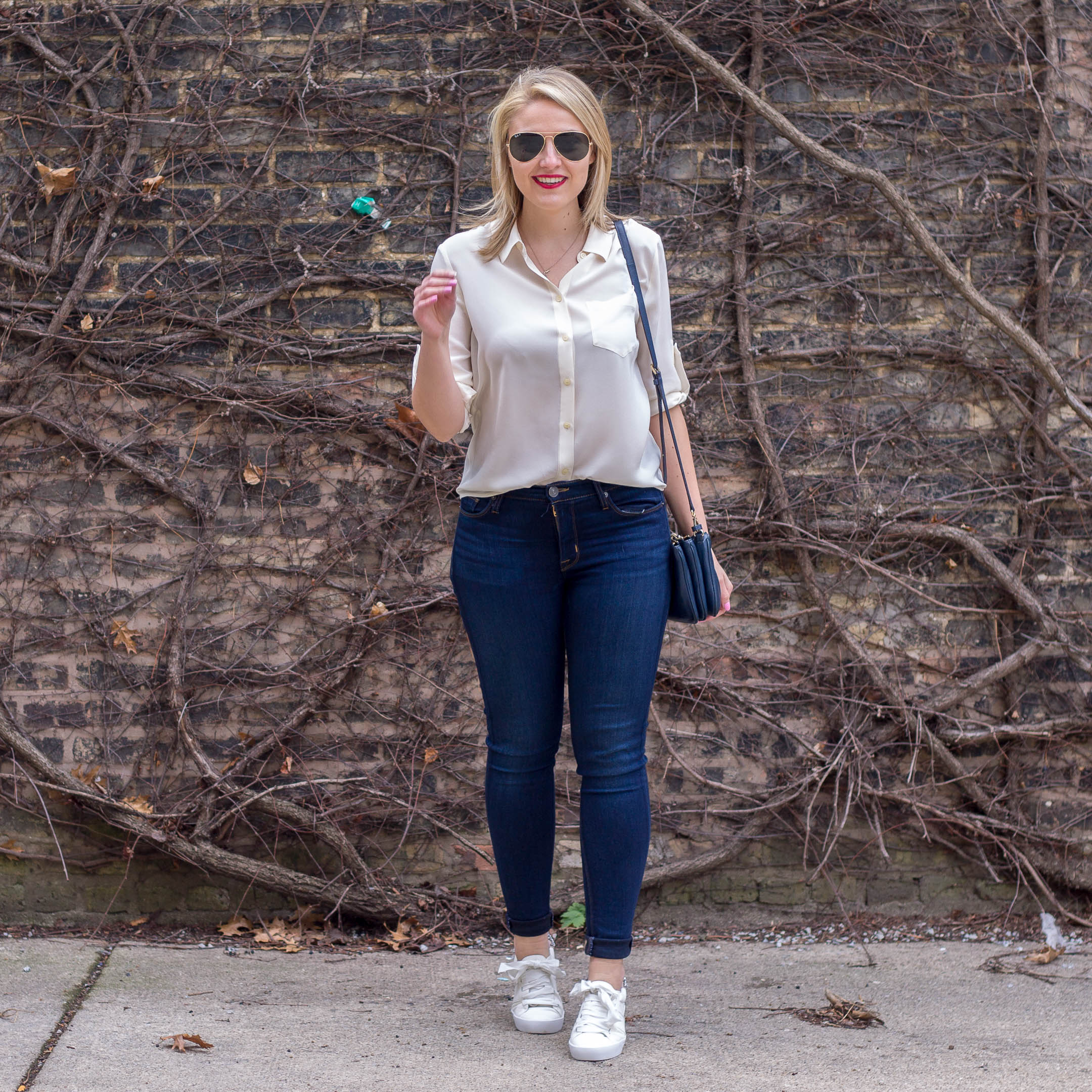 Button Downs & Jeweled Sneakers